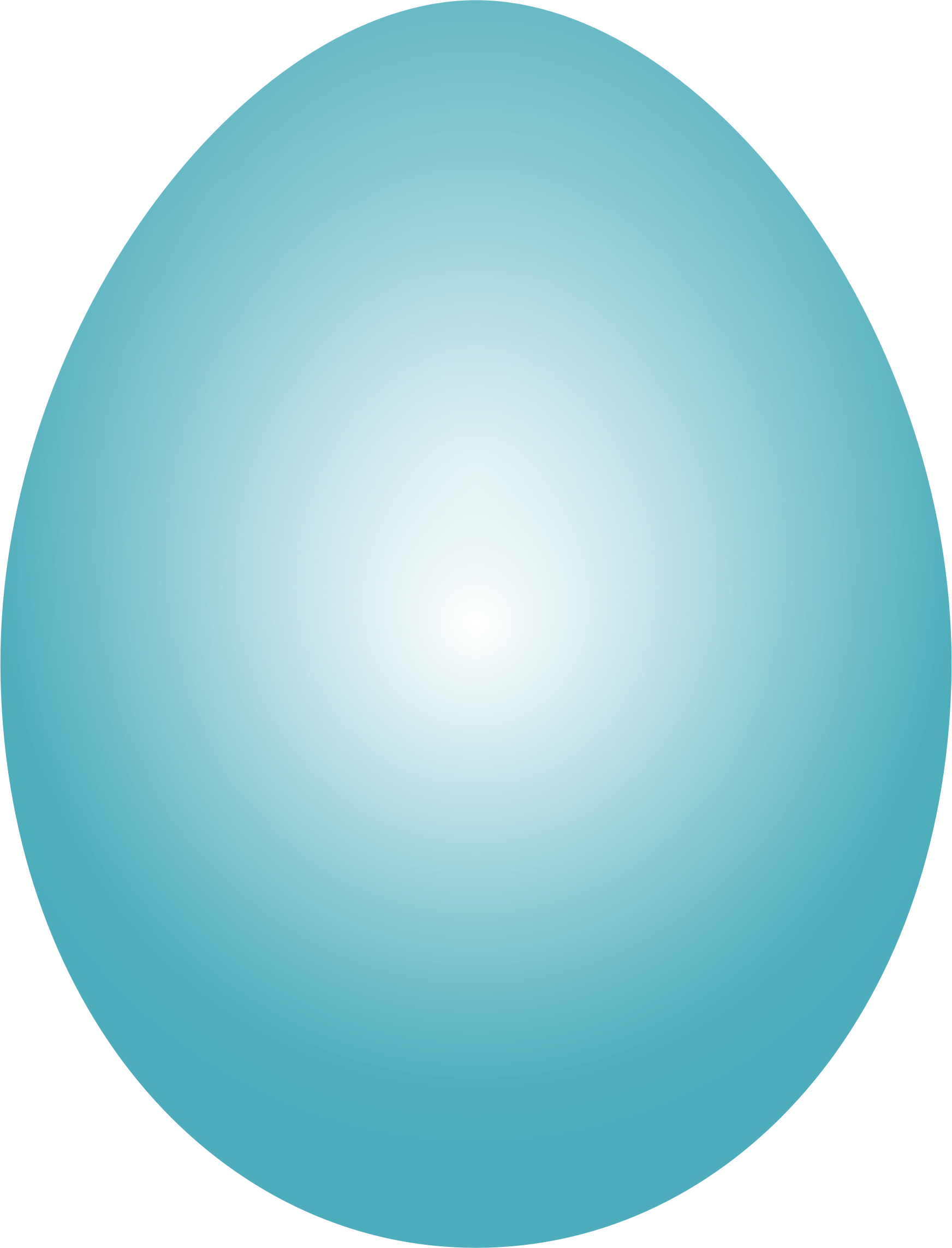 Blue Green Easter Egg by GDJ