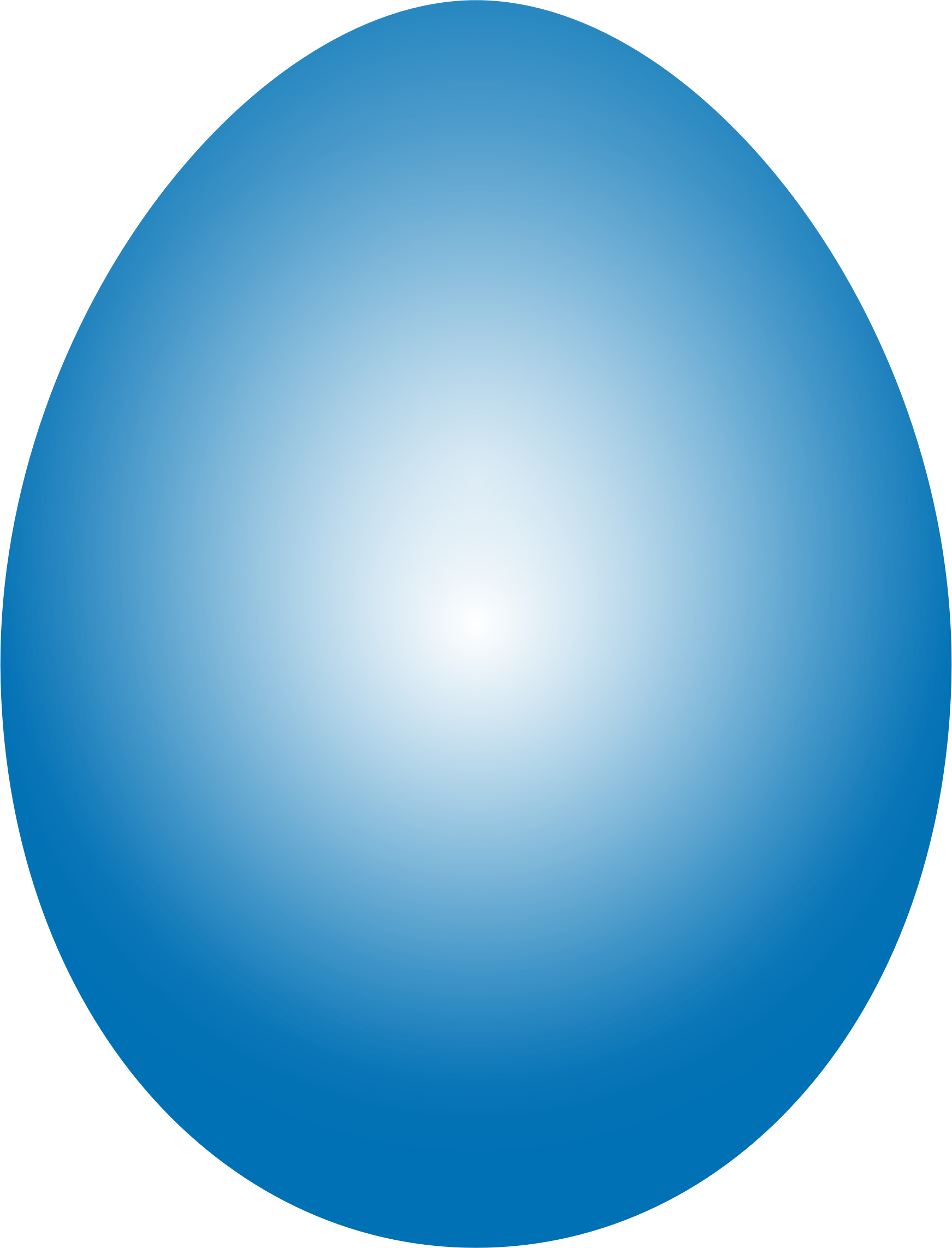 Clipart  Blue Easter Egg