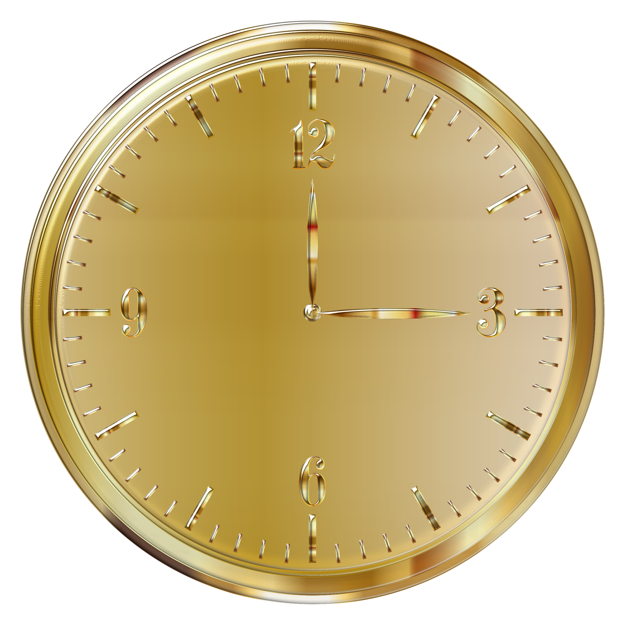 Gold Clock Enhanced by GDJ