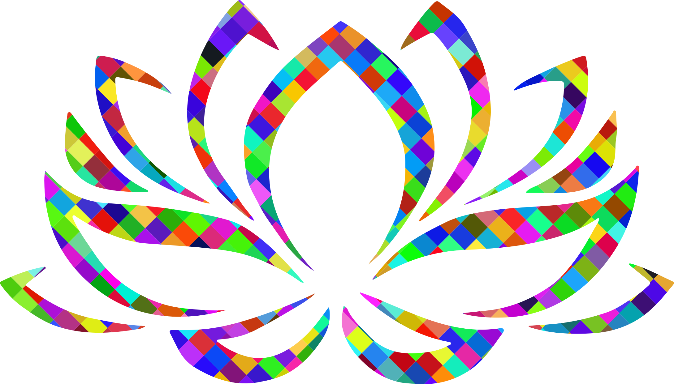 Clipart - Prismatic Lotus Flower