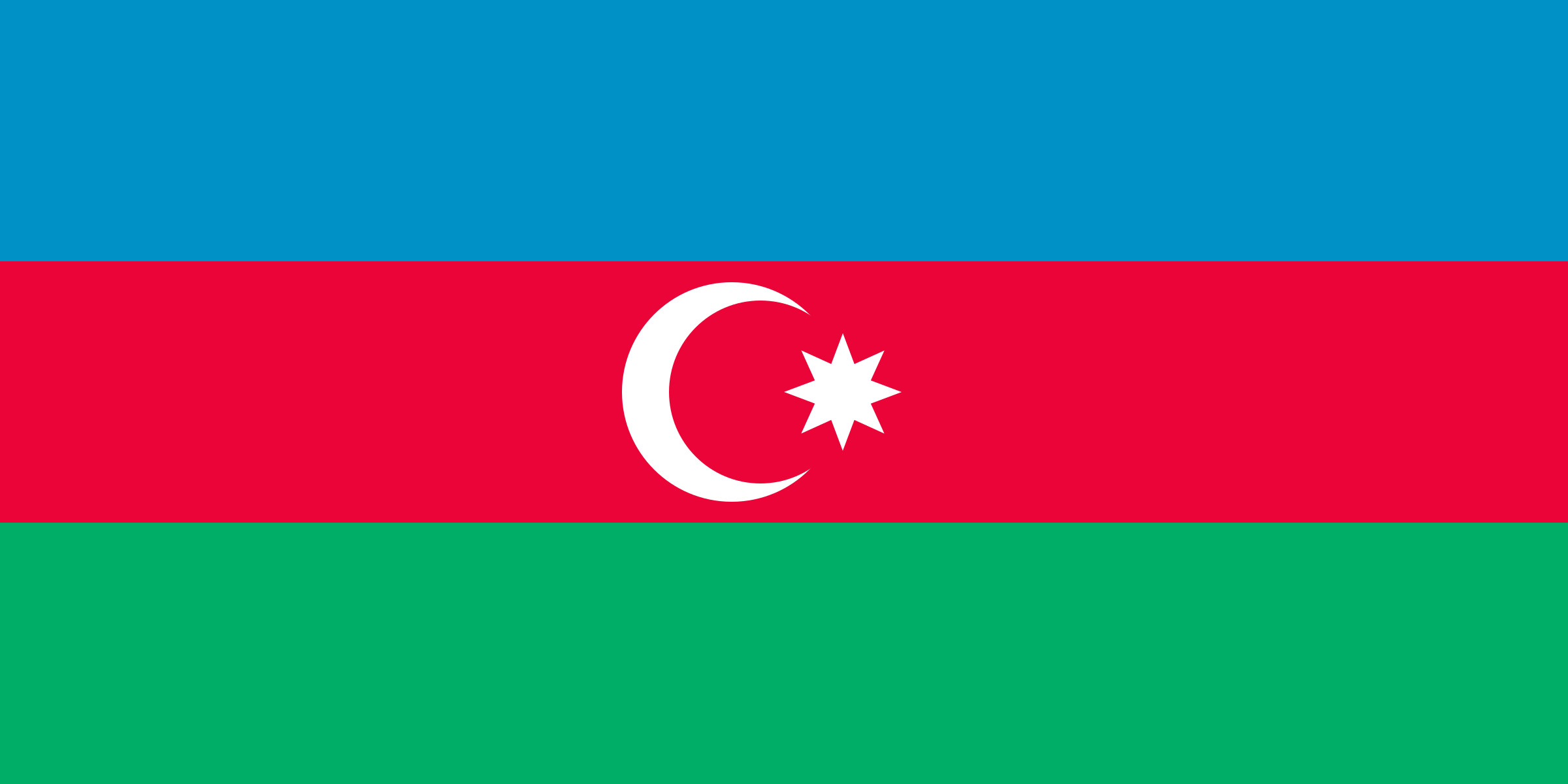 Flag of Azebaijan by Anonymous