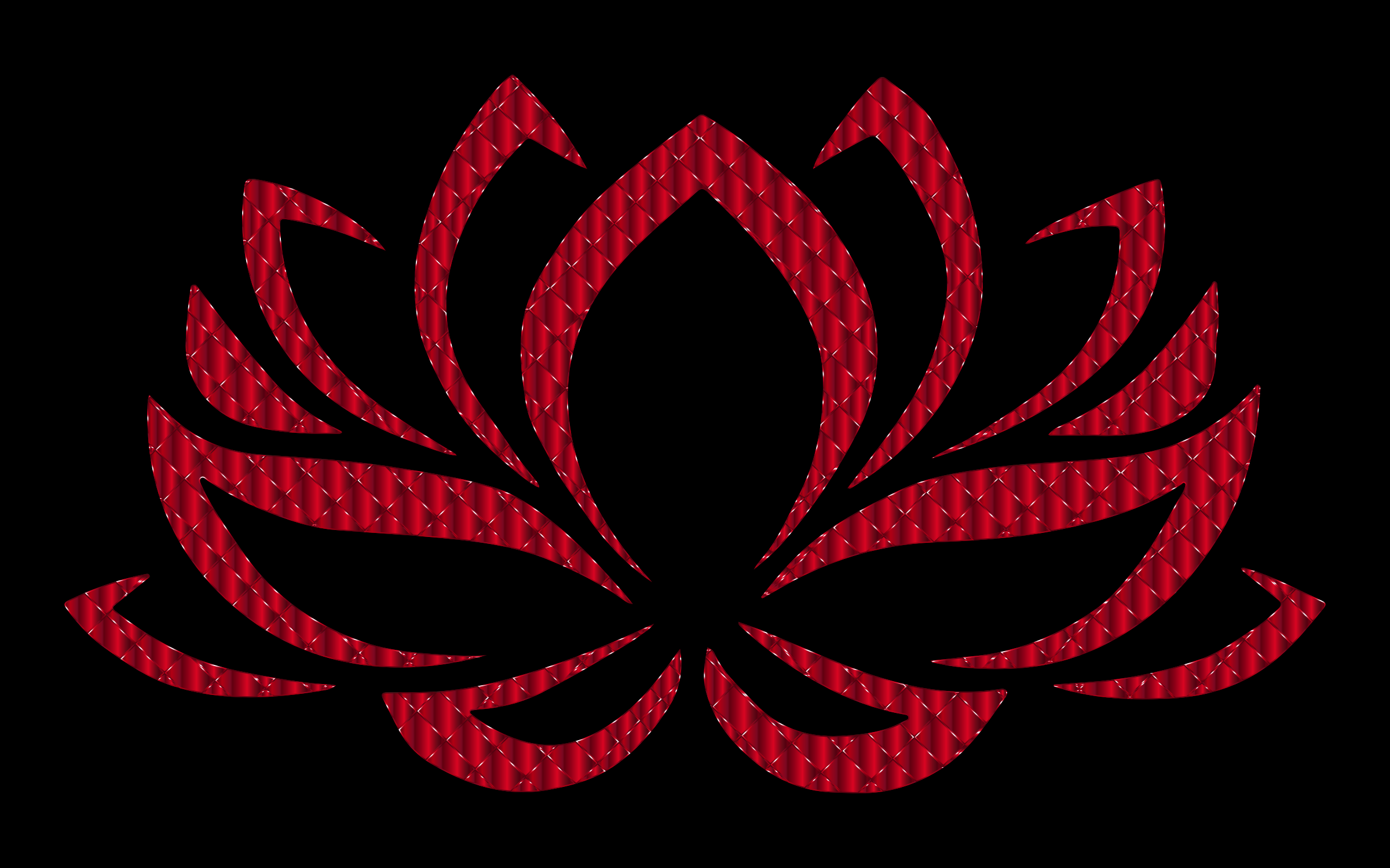Vermillion Lotus Flower by GDJ