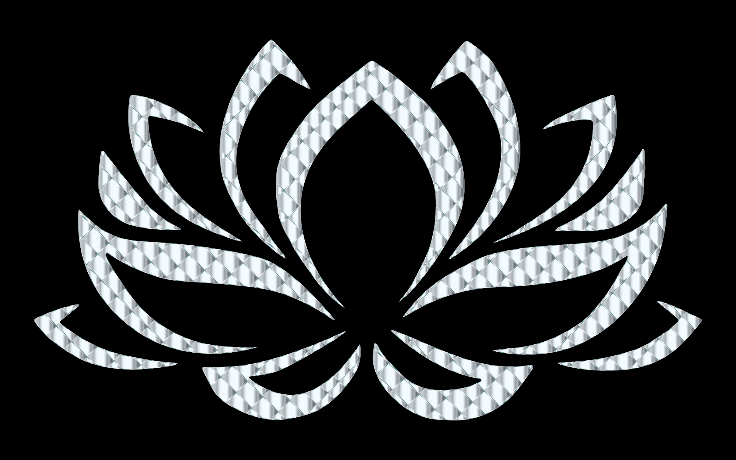 Silver Lotus Flower by GDJ