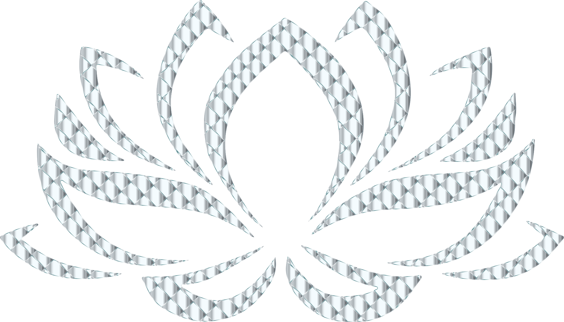 Clipart - Silver Lotus Flower No Background