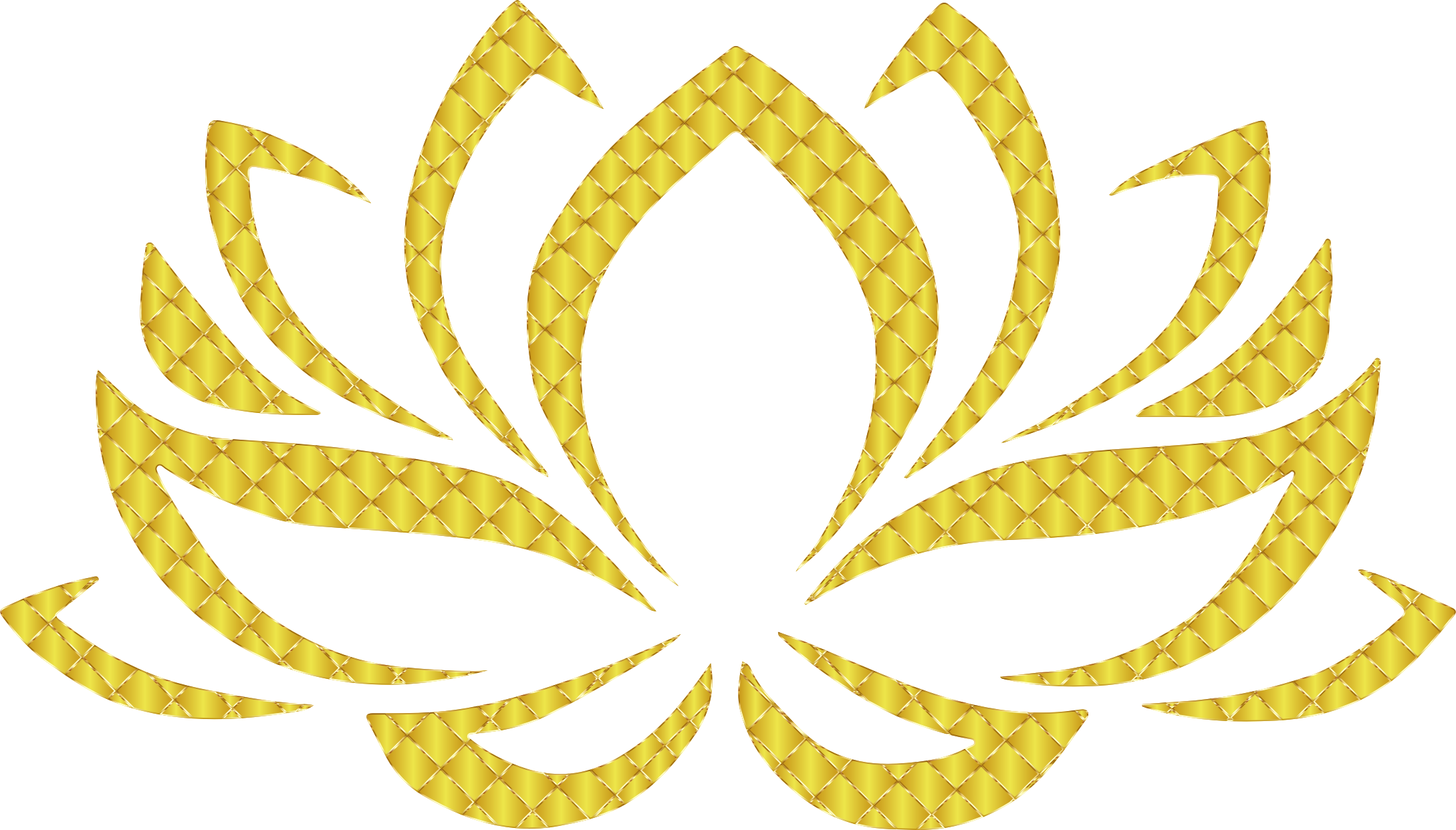 Golden Lotus Flower 3 No Background by GDJ