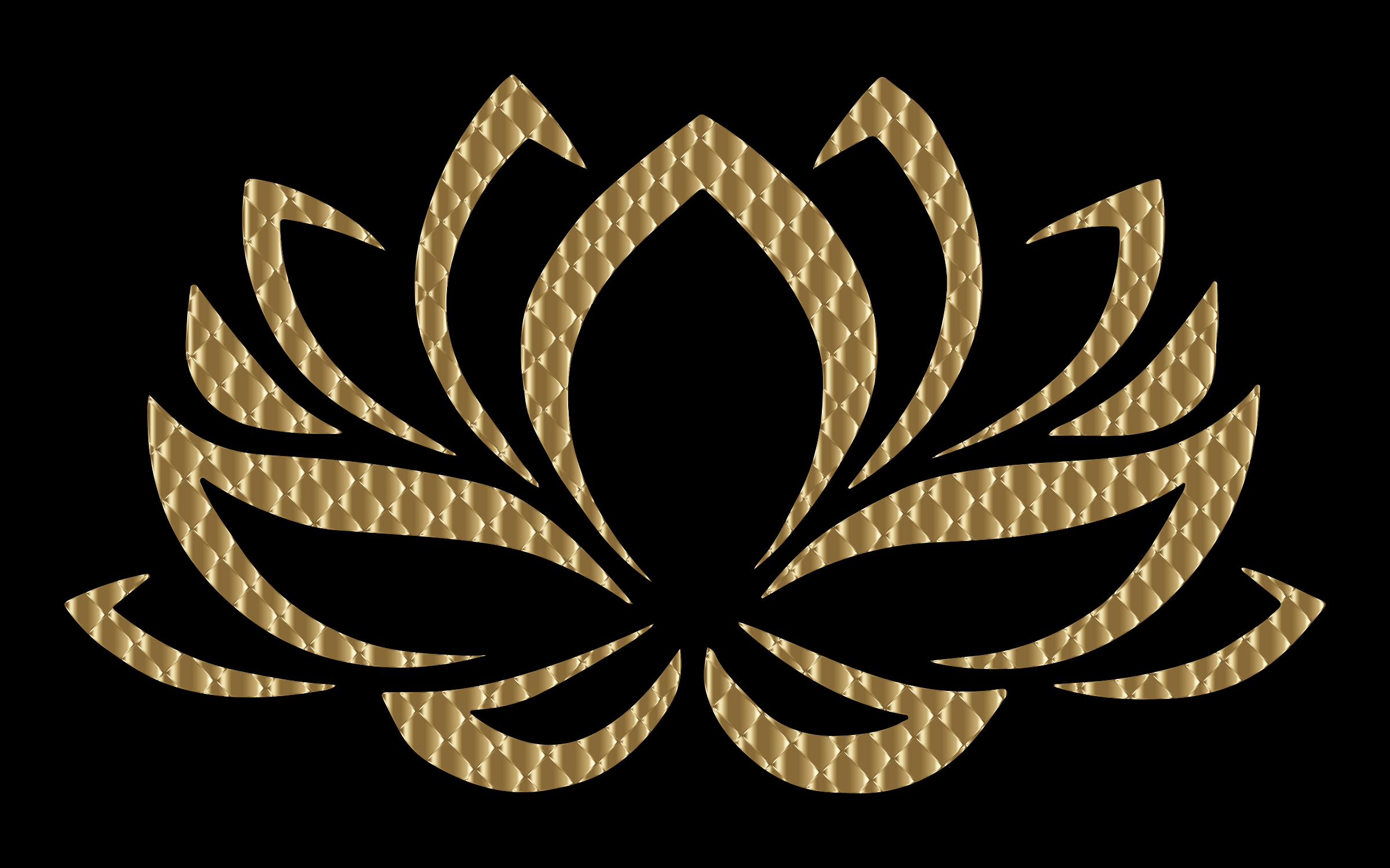 Golden Lotus Flower 4 Variation 2 by GDJ