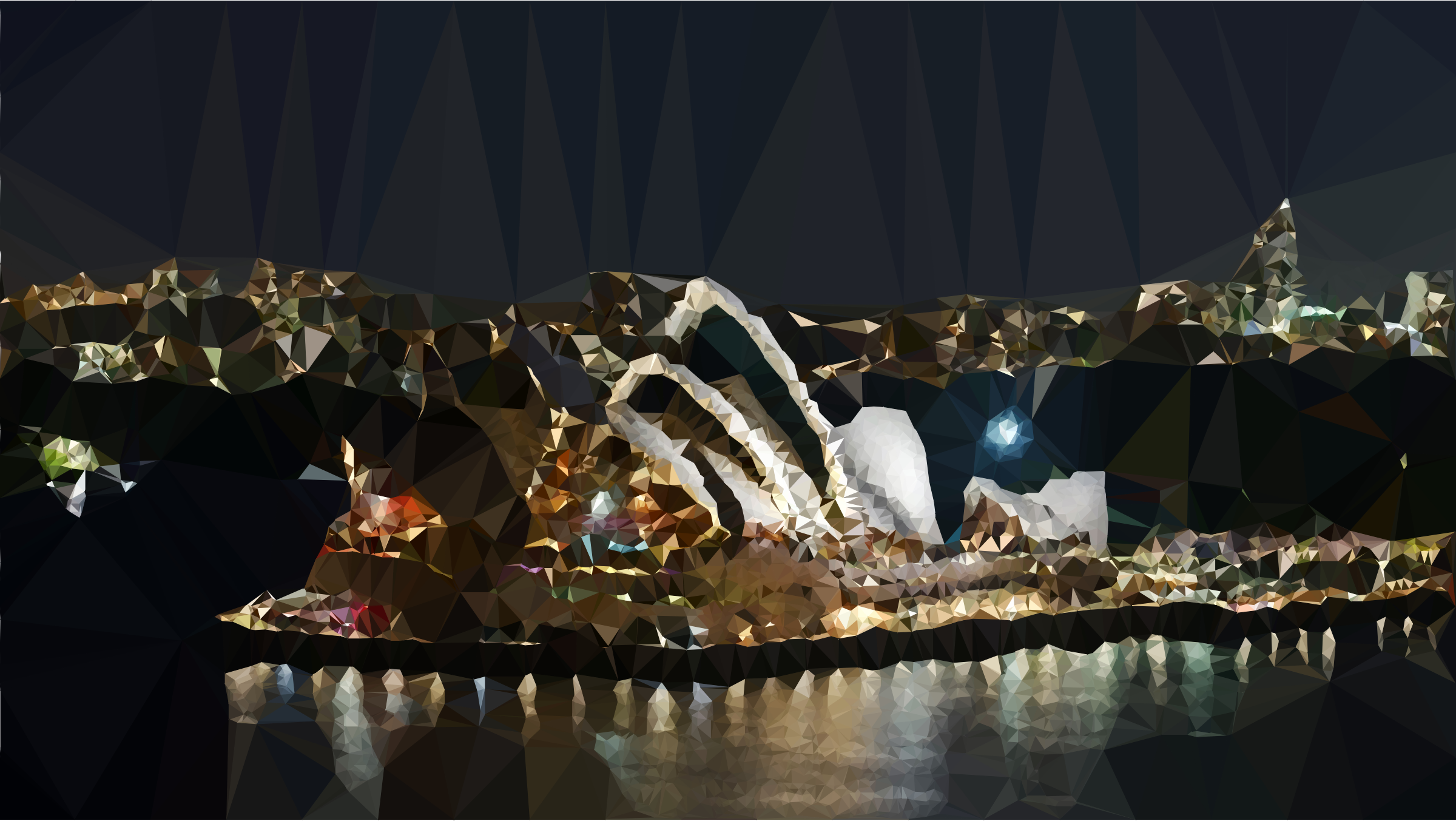 Low Poly Sydney Opera House Night Scene by GDJ