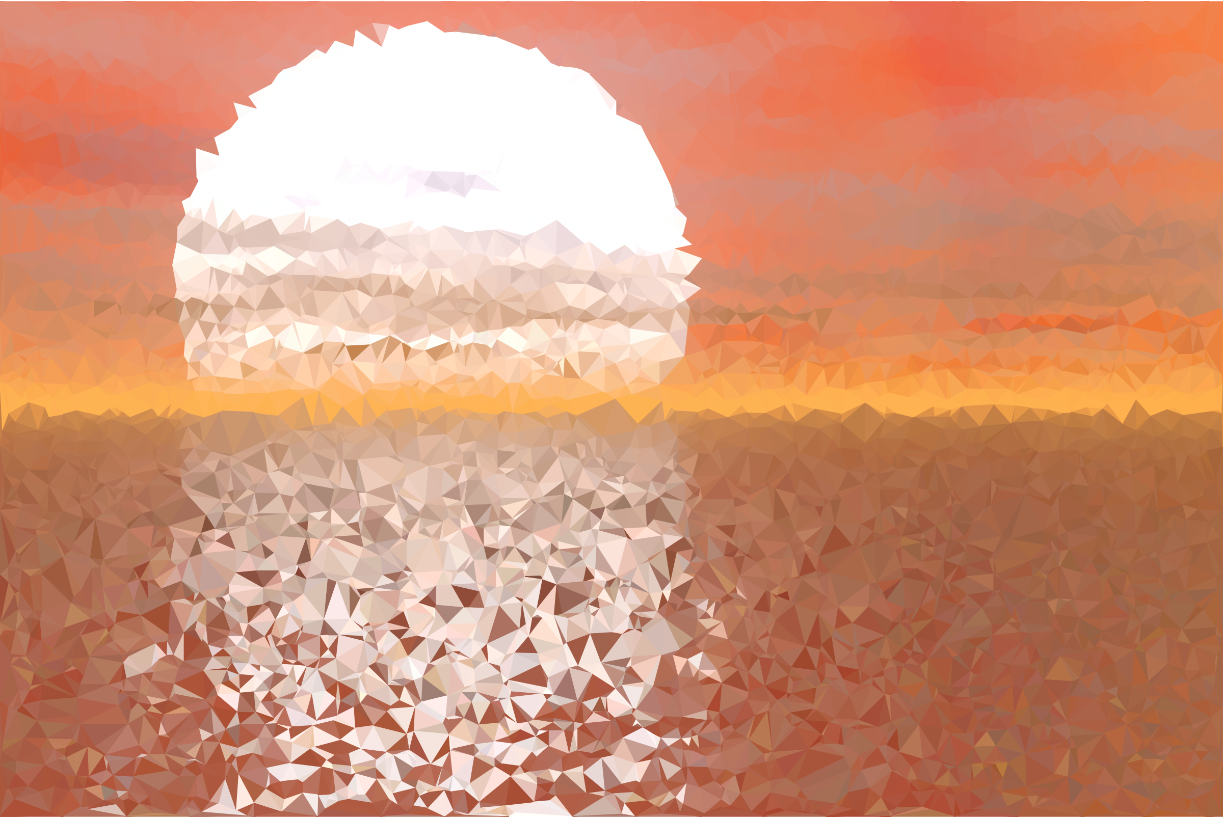 Low Poly Sunset Reflection by GDJ
