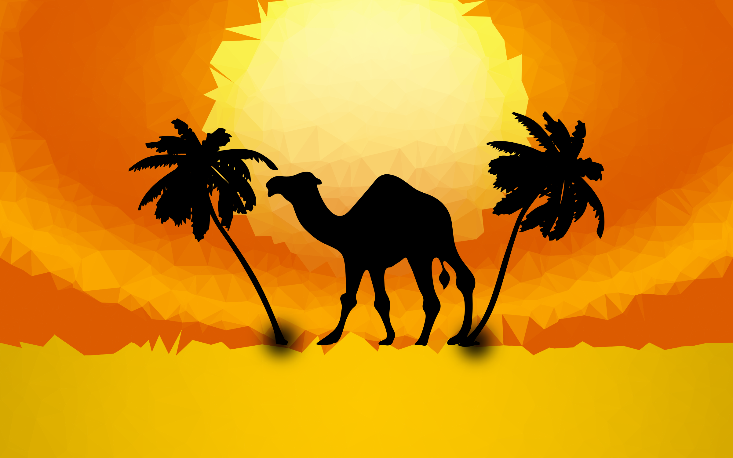 Low Poly Camel Sunset by GDJ