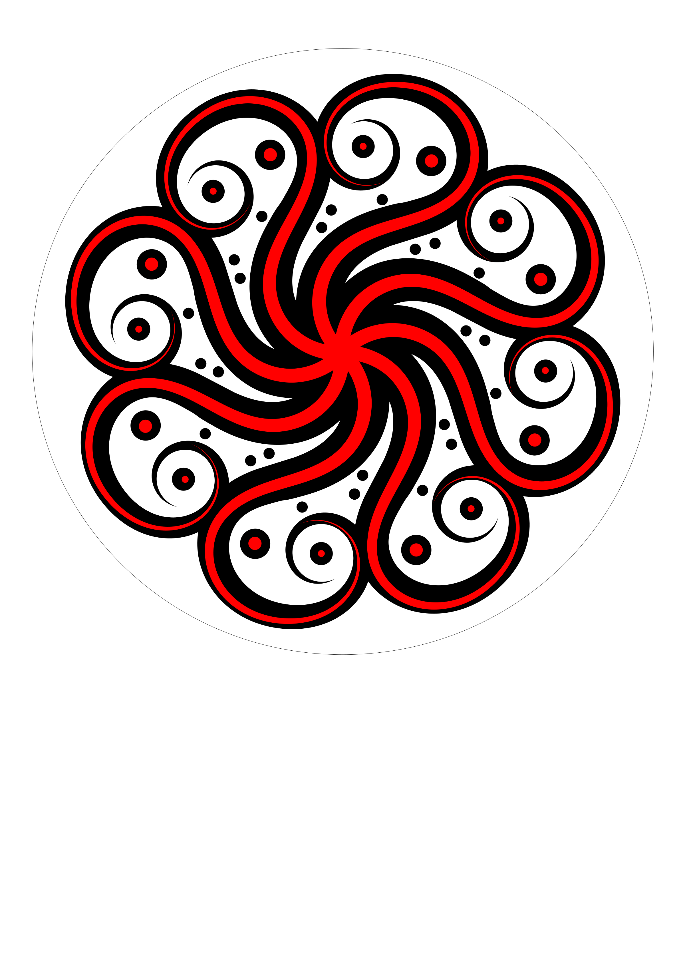 Black-red Abstract Octopus by Urtica555