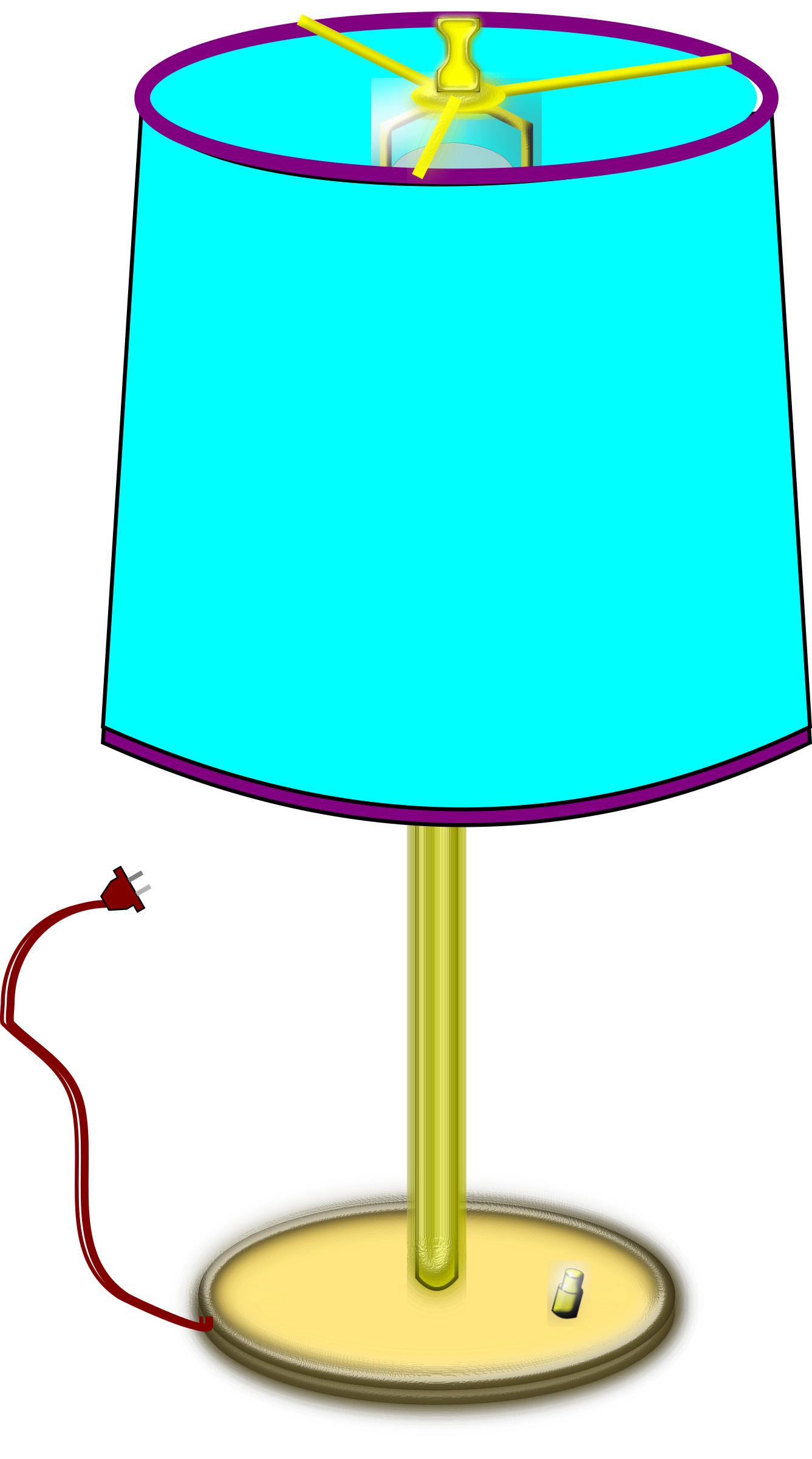 Clipart - Table Lamp for Lamp Shade Clip Art  58lpg