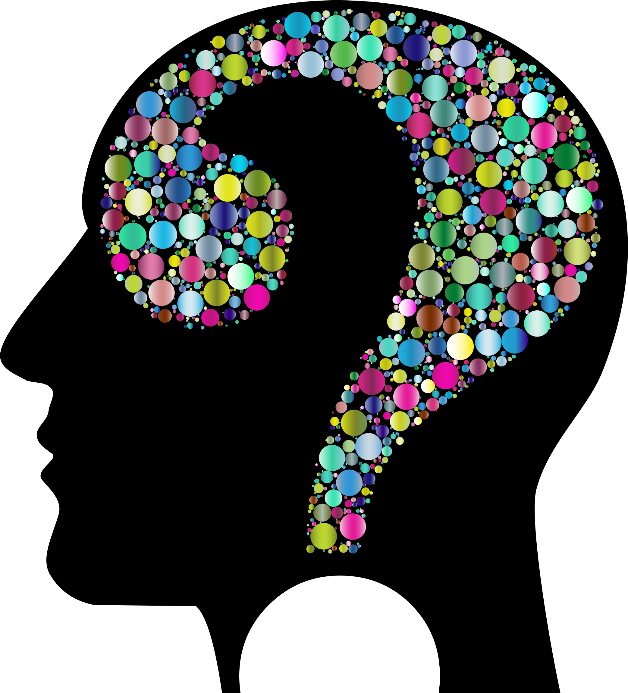 Colorful Question Head Circles 6 by GDJ