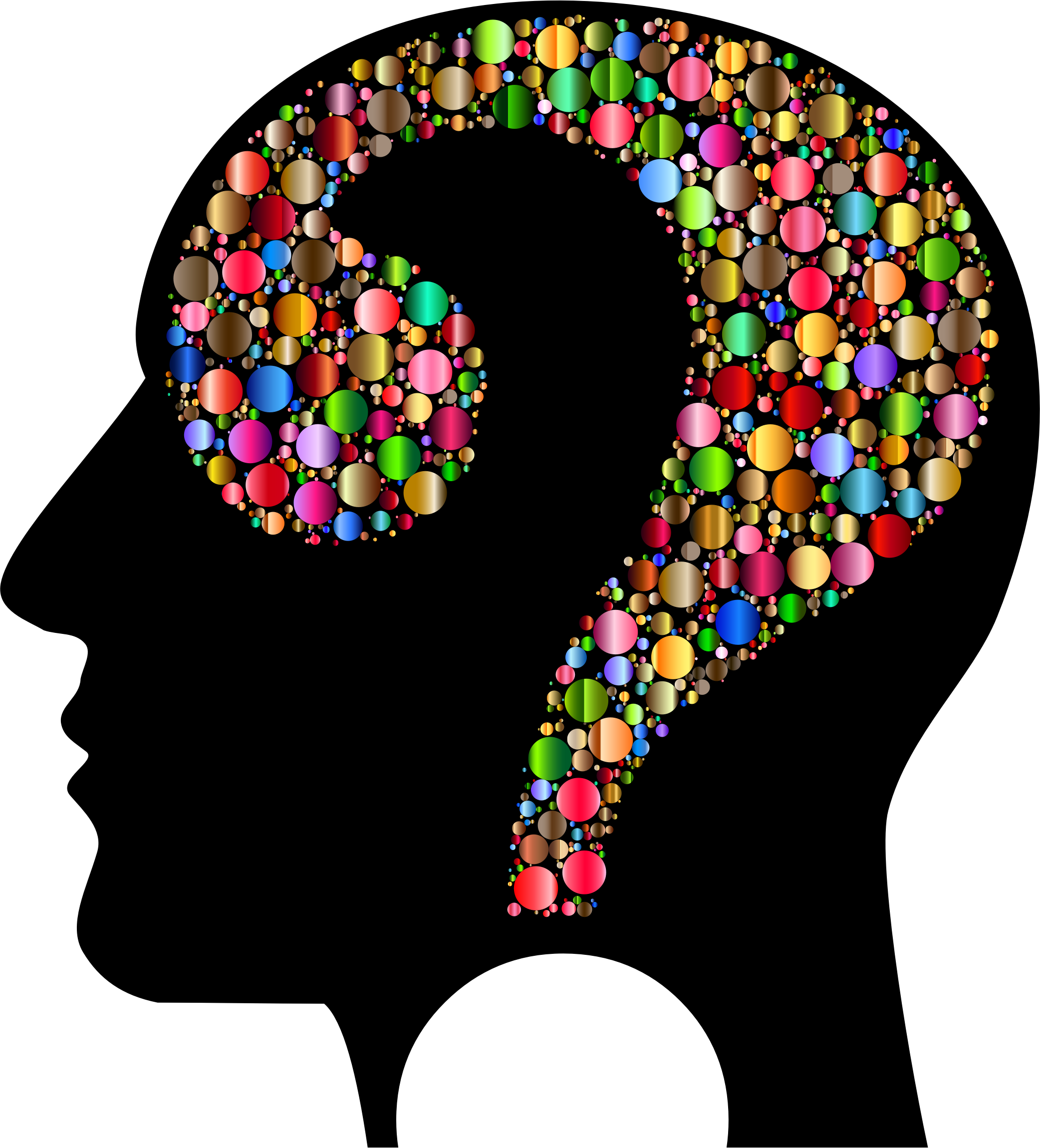 Colorful Question Head Circles 7 by GDJ