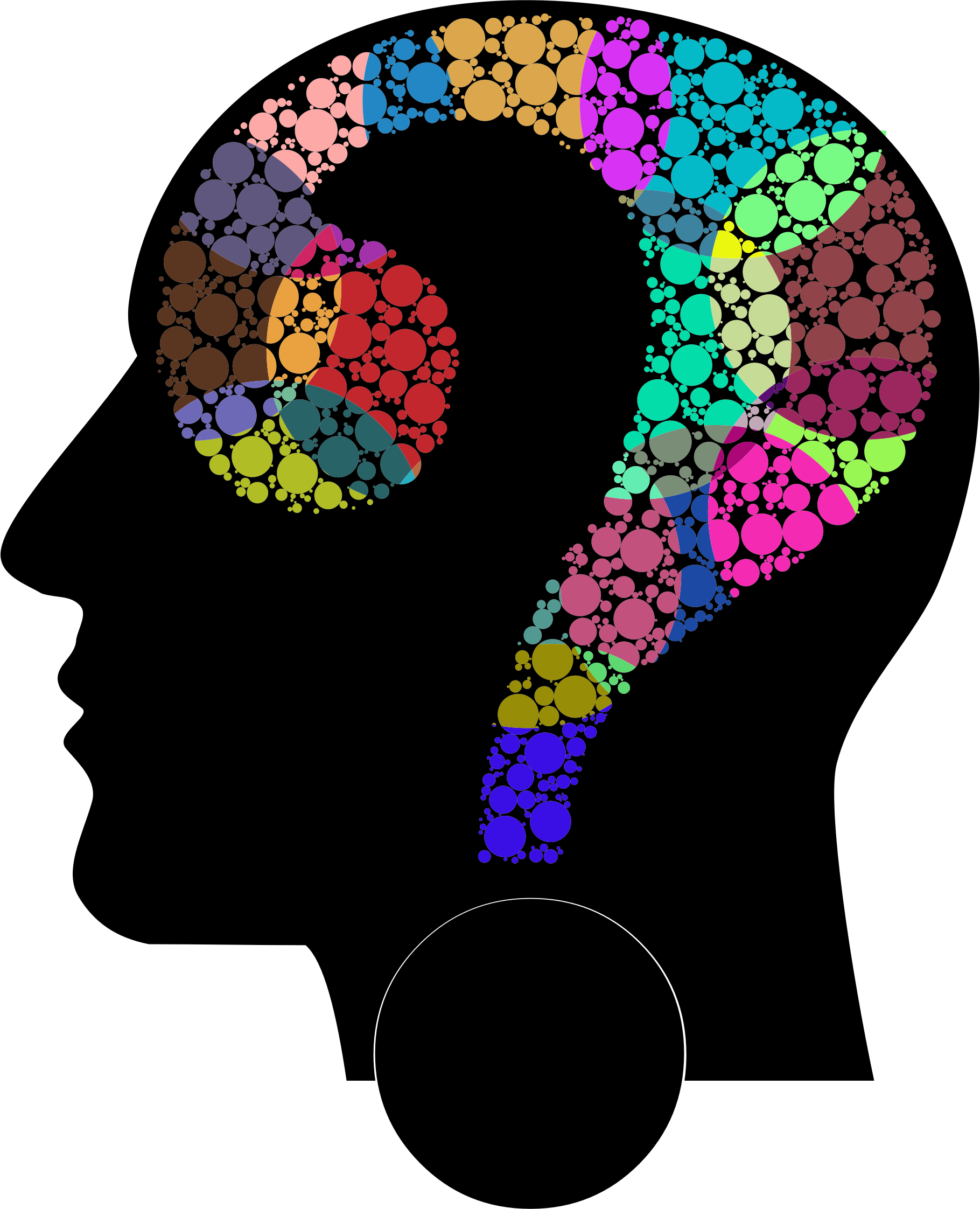 Colorful Question Head Circles 14 by GDJ