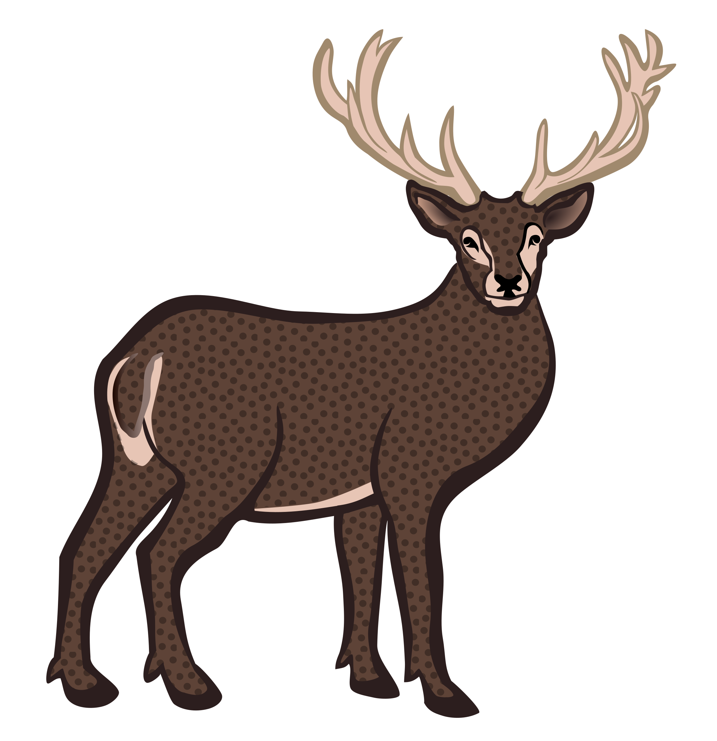 deer - coloured by frankes