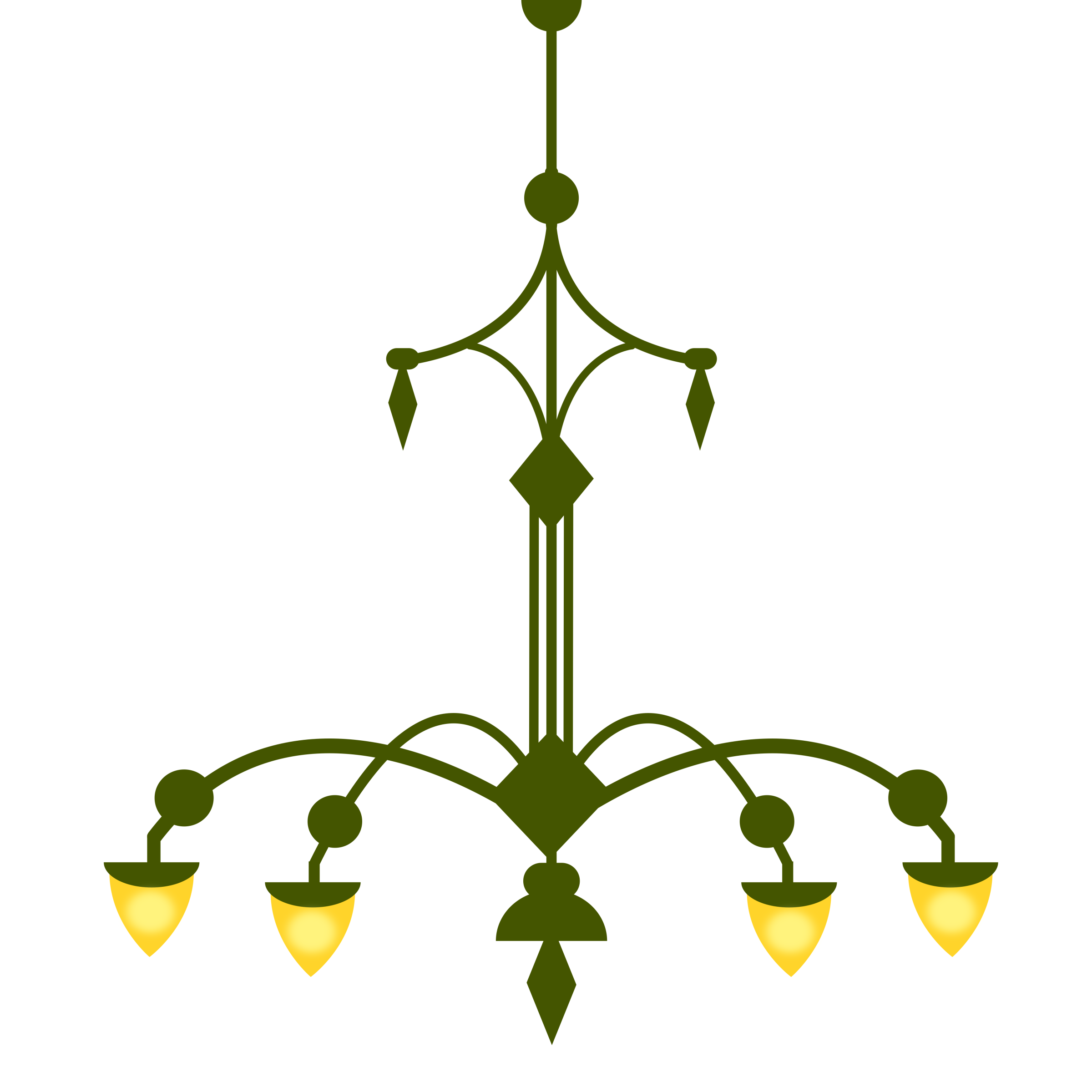 Clipart ornate chandelier with 4 lamps version 1 ornate chandelier with 4 lamps version 1 arubaitofo Image collections