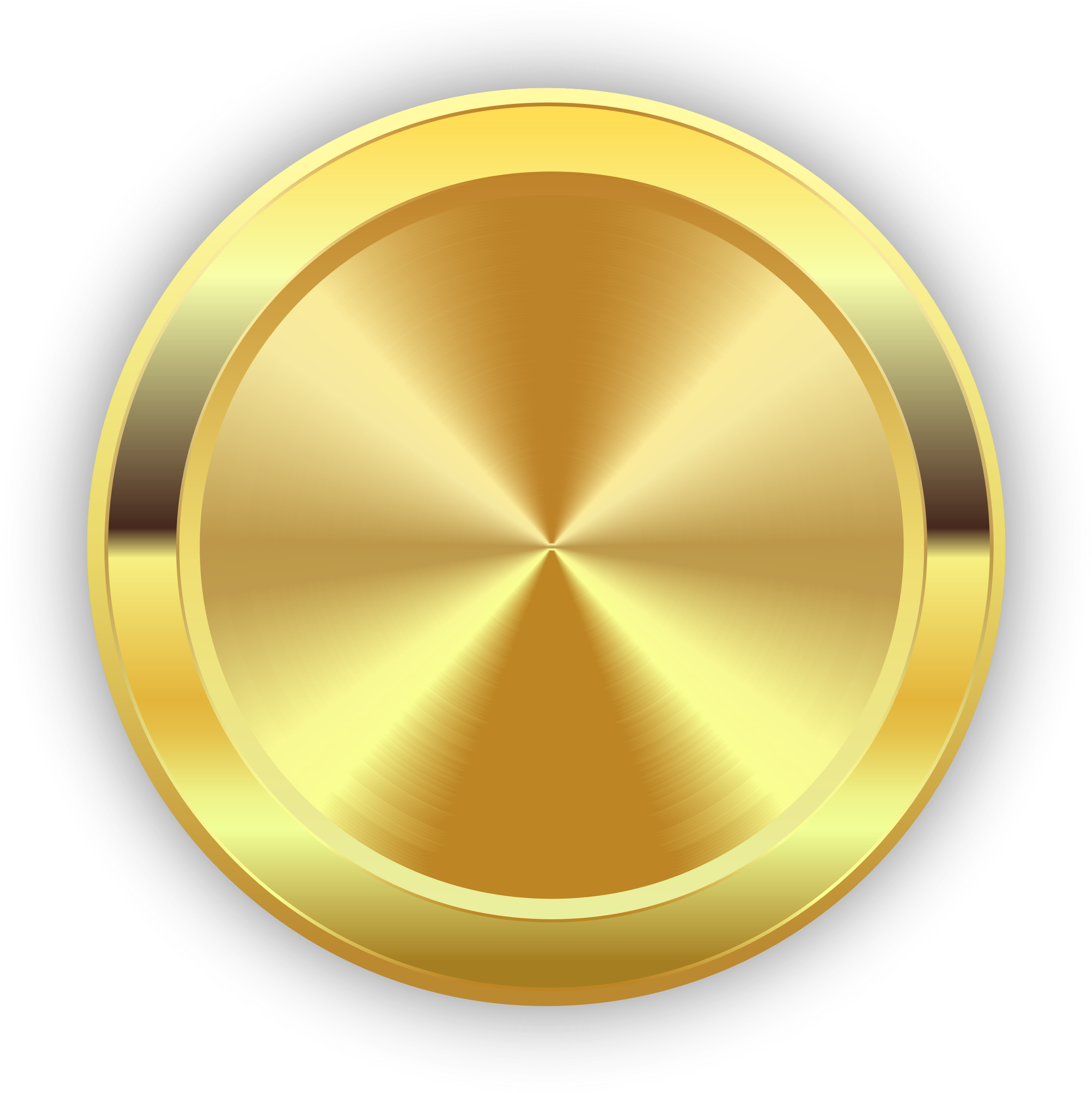 Round Golden Badge by tasper