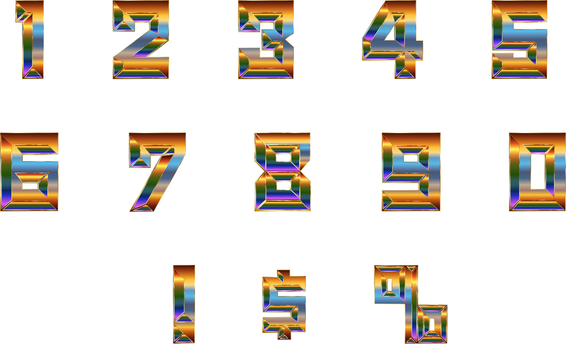 Chromatic Numbers Set by GDJ