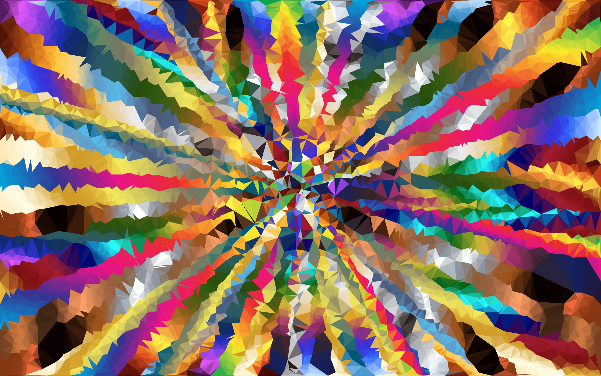 Low Poly Psychedelic Starburst Background by GDJ