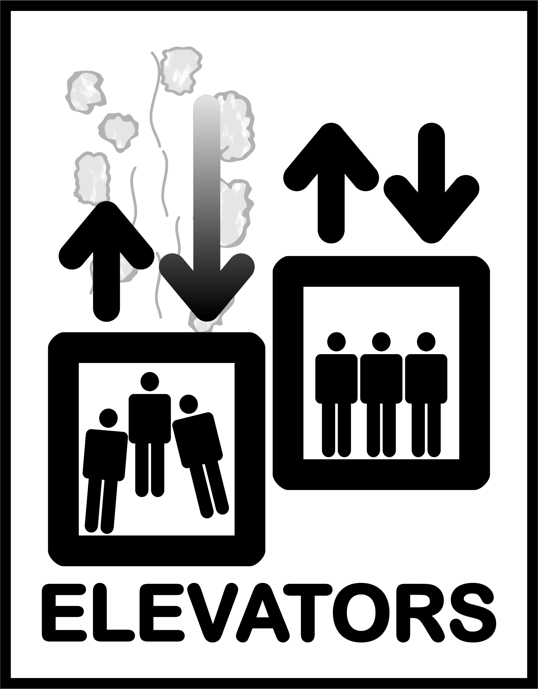 clipart elevator sign