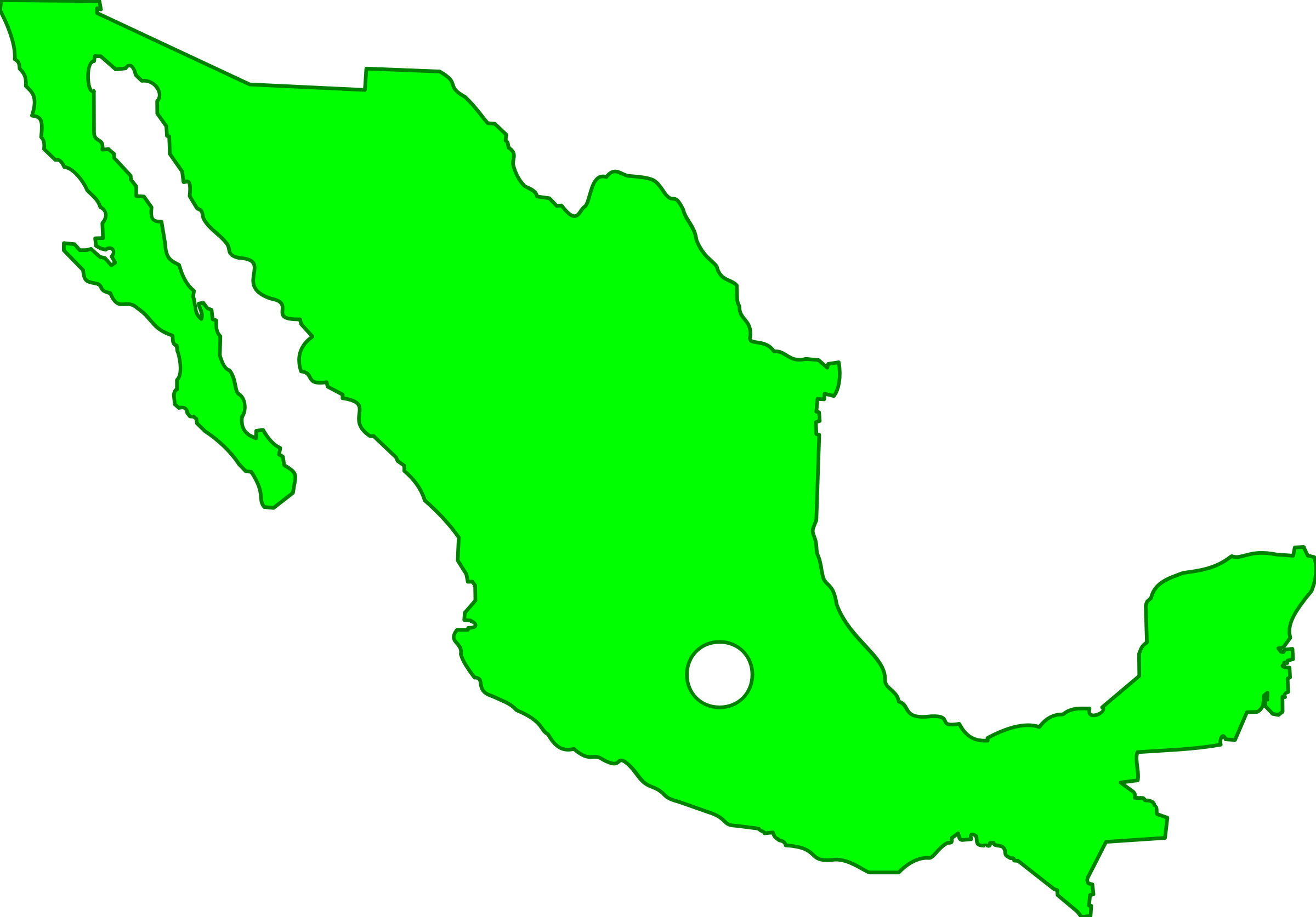 Clipart - Mexico Map