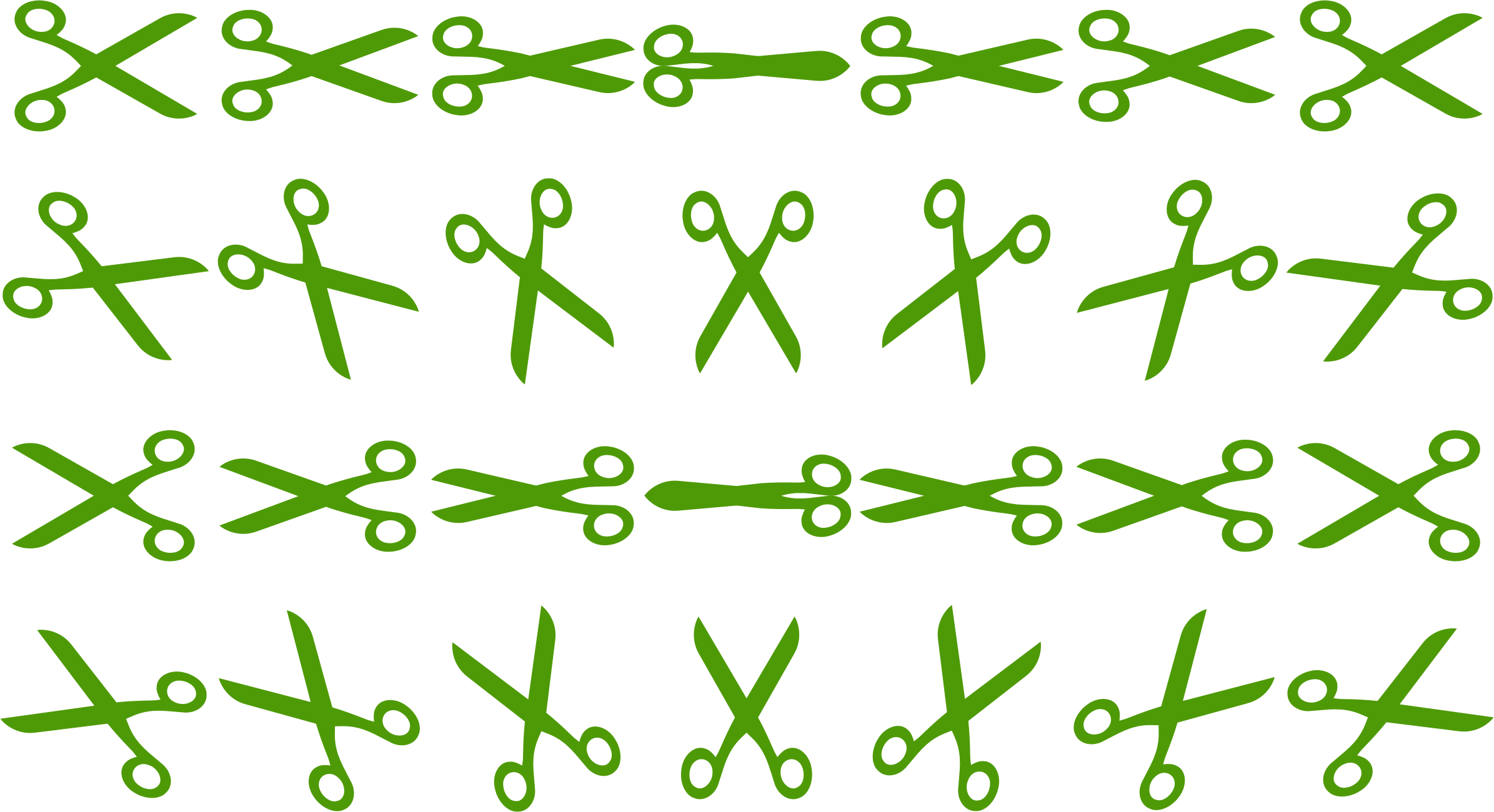 Openclipart Scissors Sprite Sheet by JayNick