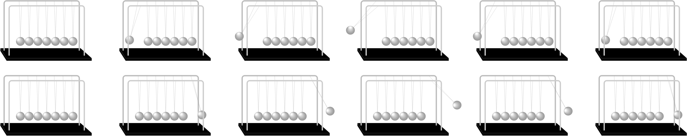 Newton's Cradle Sprite Sheet by JayNick