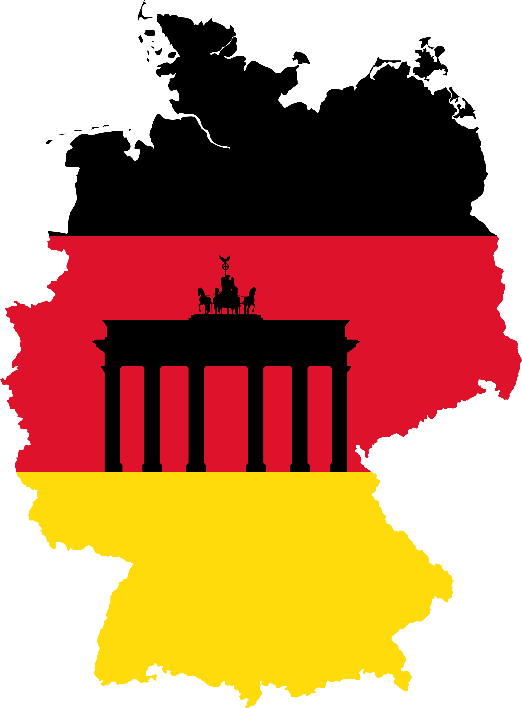 Germany Map Flag 2 by GDJ