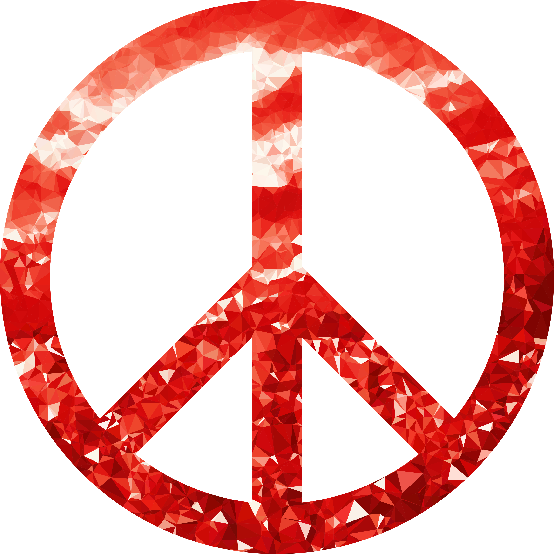 Ruby Peace Sign by GDJ