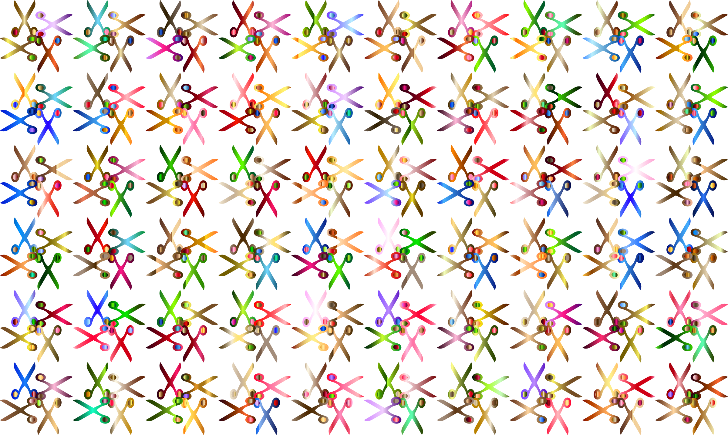 Scissors Pattern No Background by GDJ