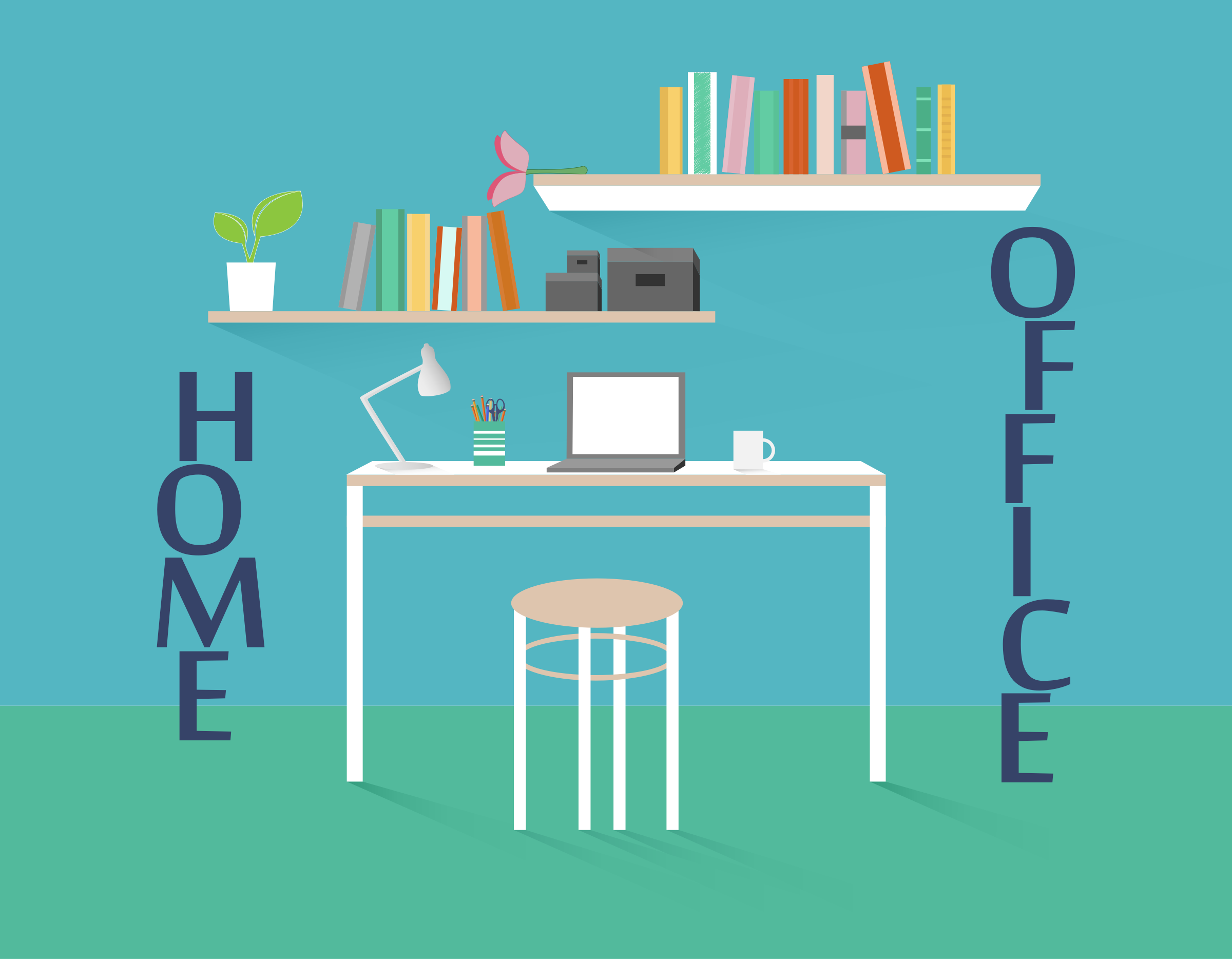 Home Office by GoodFreeArt