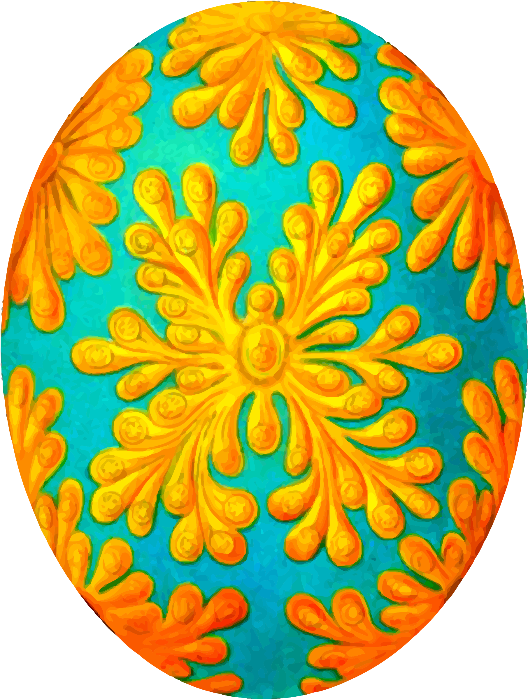 Decorated egg 3 by Firkin