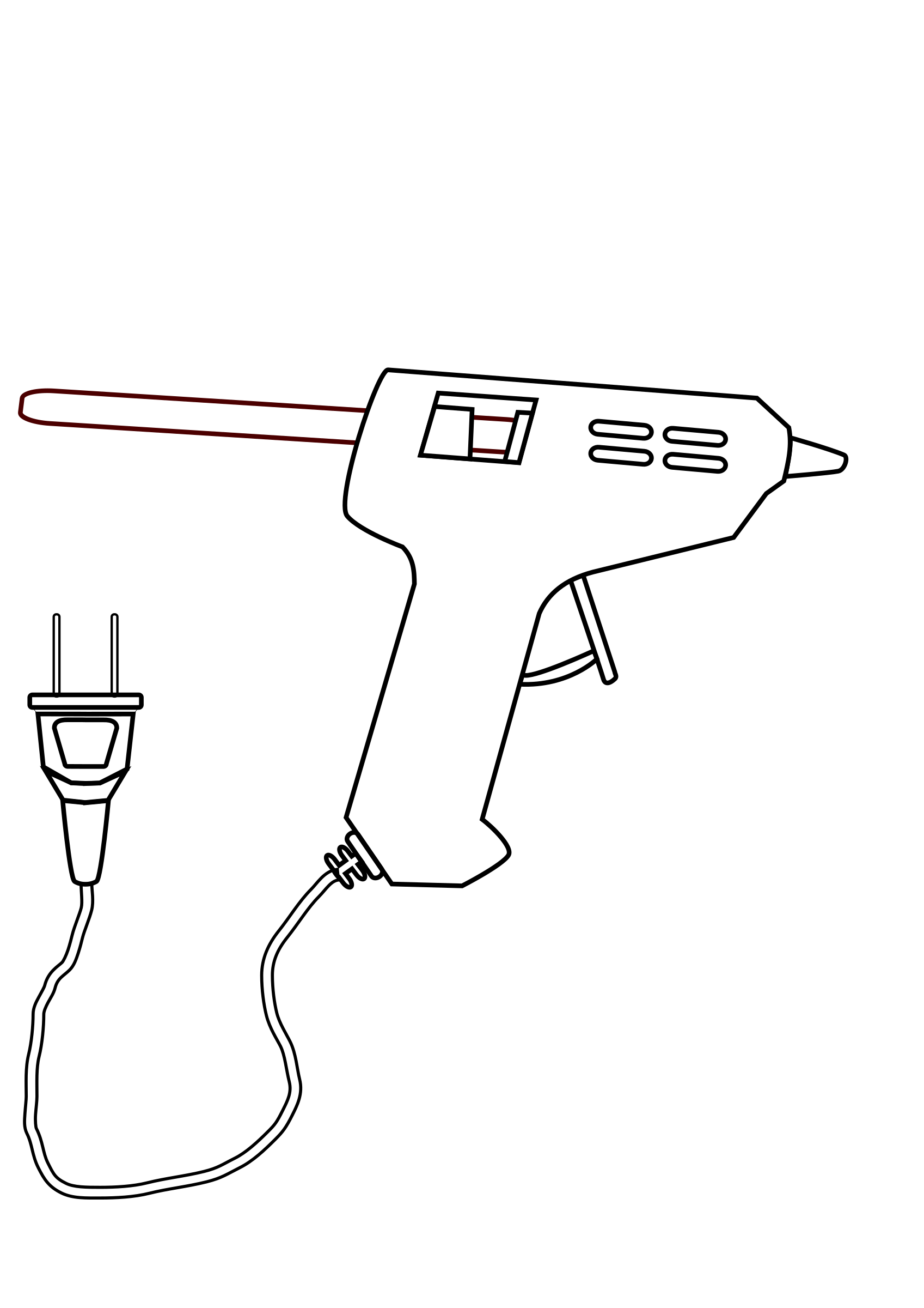 tool hot glue gun drawing coloring by ABSOLUTELYAUTOMATION
