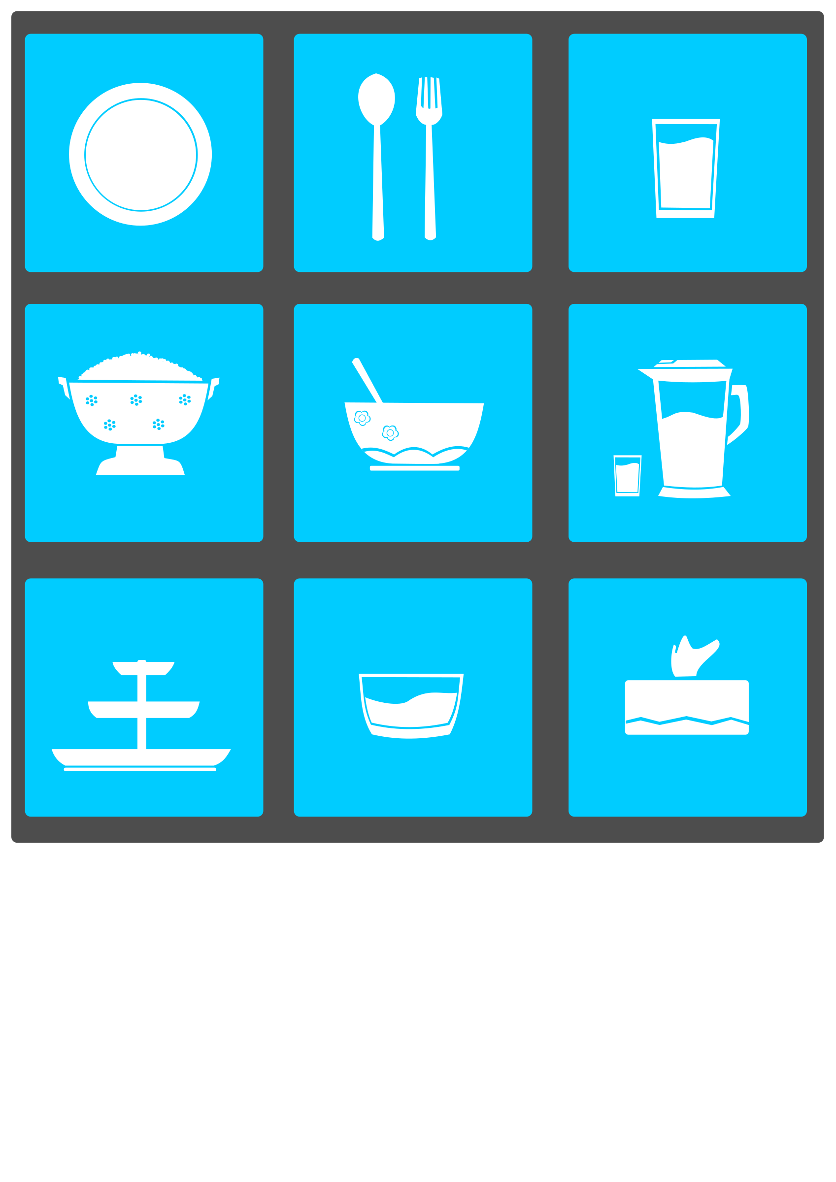 Tableware icons by Vexagrafi