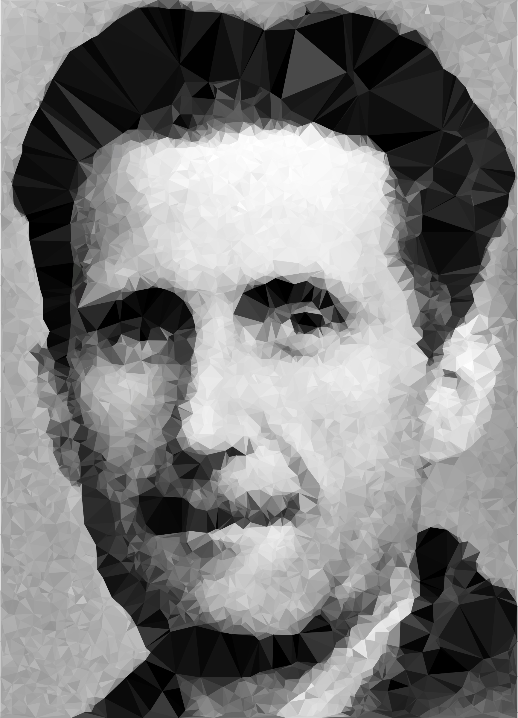 Low Poly George Orwell by GDJ