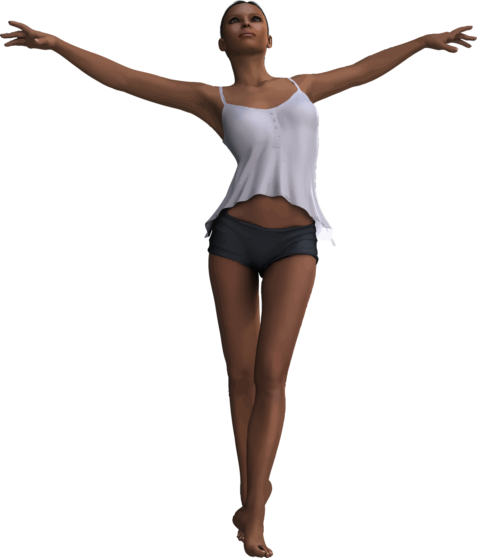 Woman With Outstretched Arms by GDJ