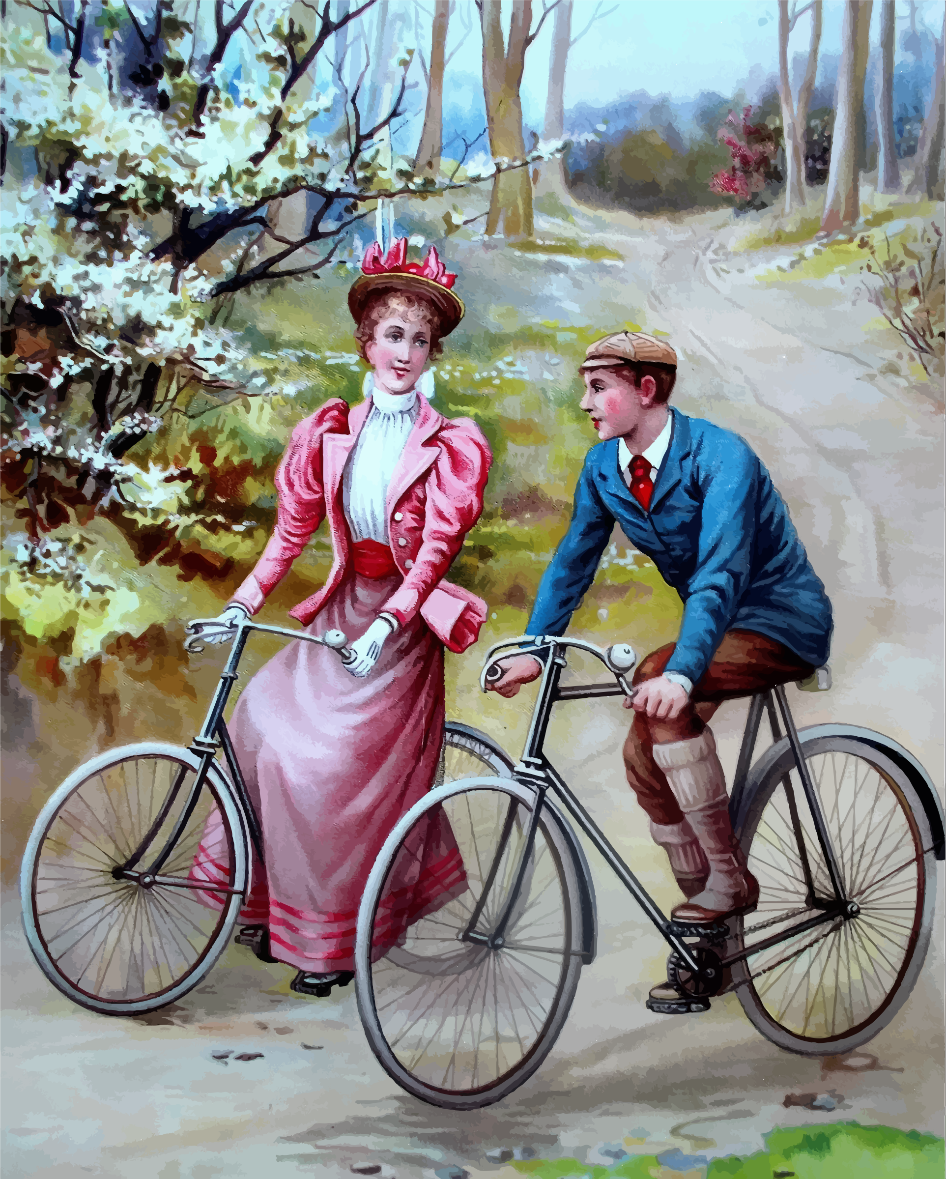 Vintage Cyclists by GDJ