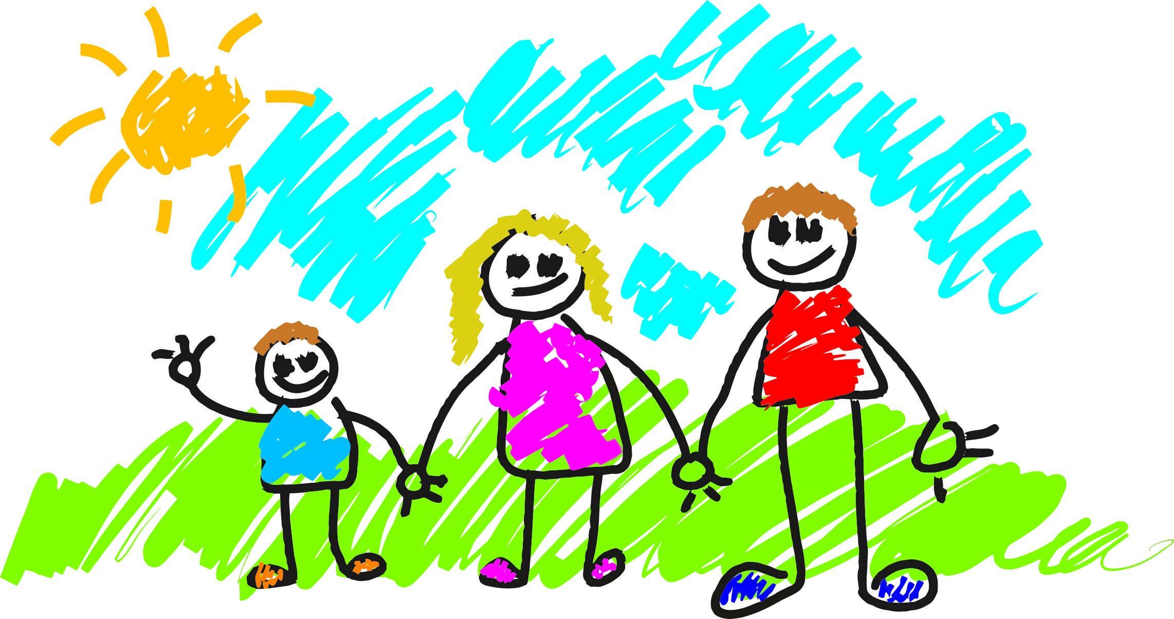 Stick Figure Family by GDJ