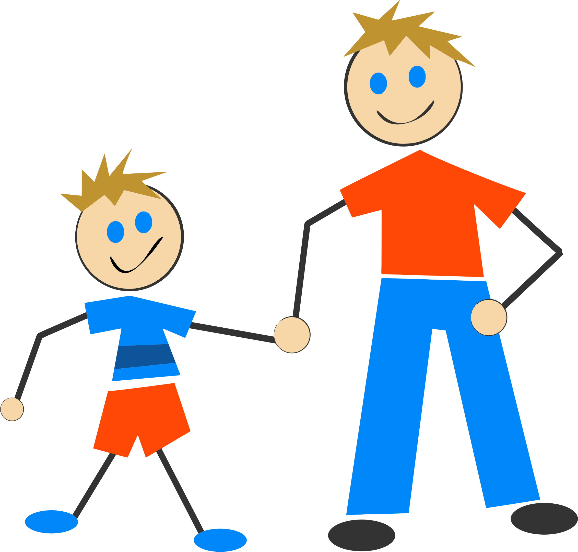 Stick Figure And Son by GDJ