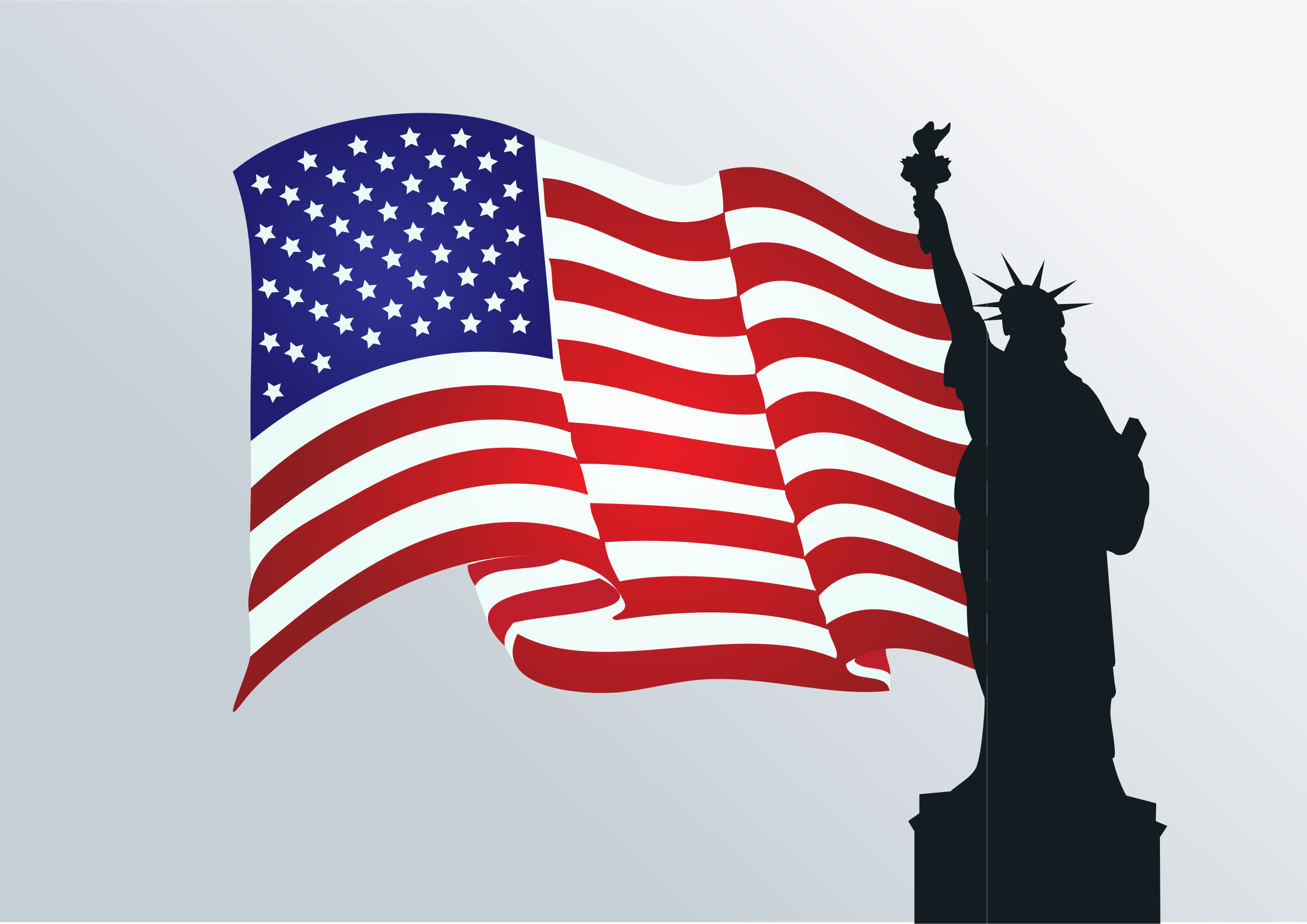 Statue Of Liberty Flag by GDJ