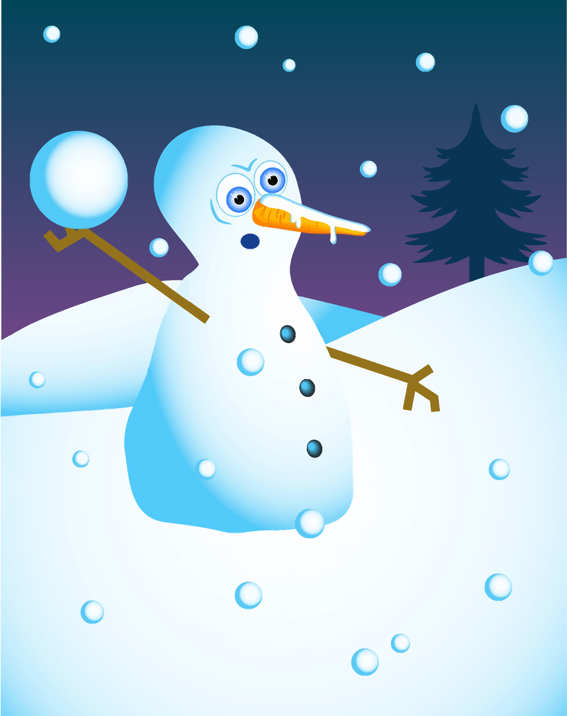 Snowball Fight Snow Man by GDJ