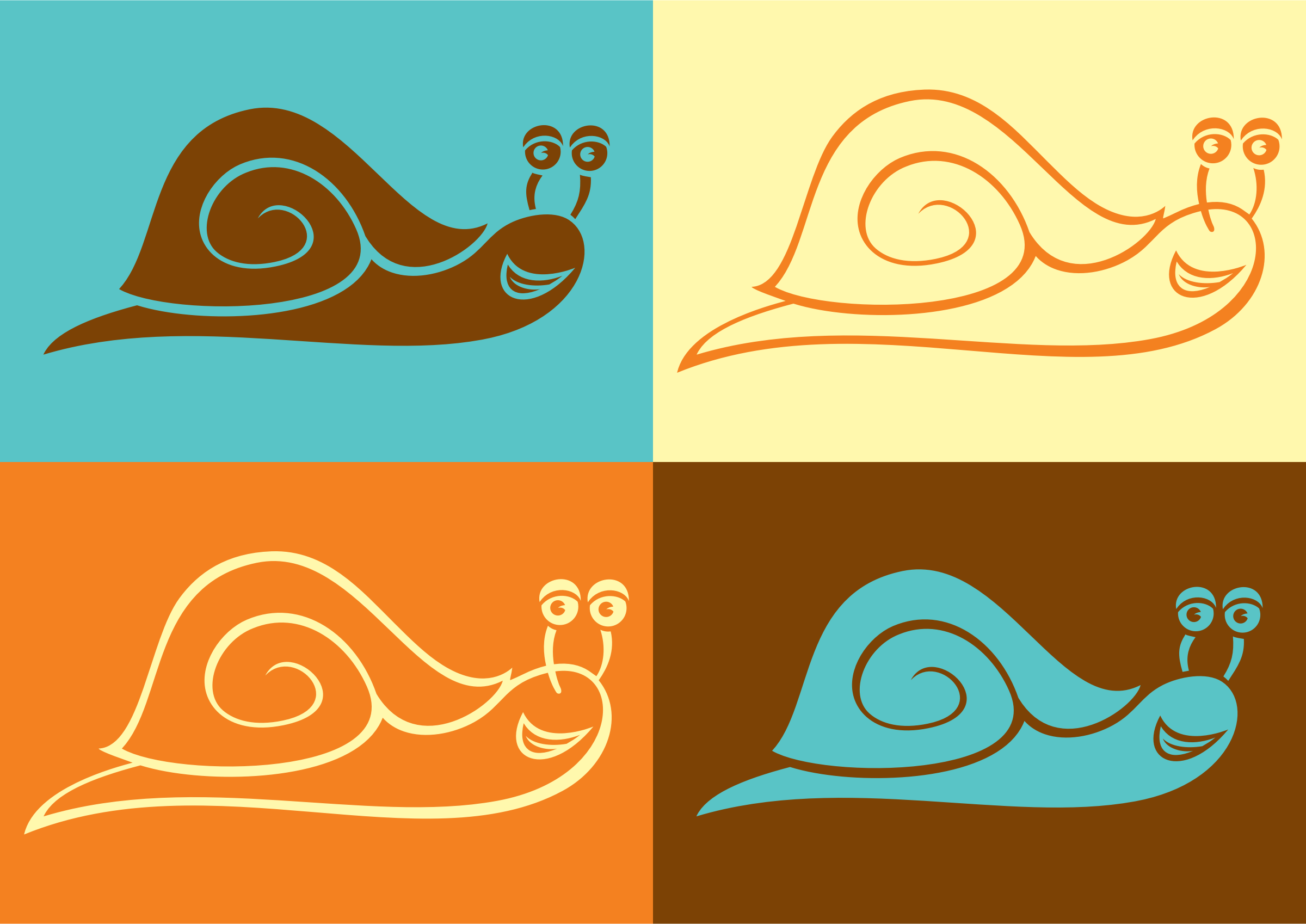 Snail Line Art by GDJ