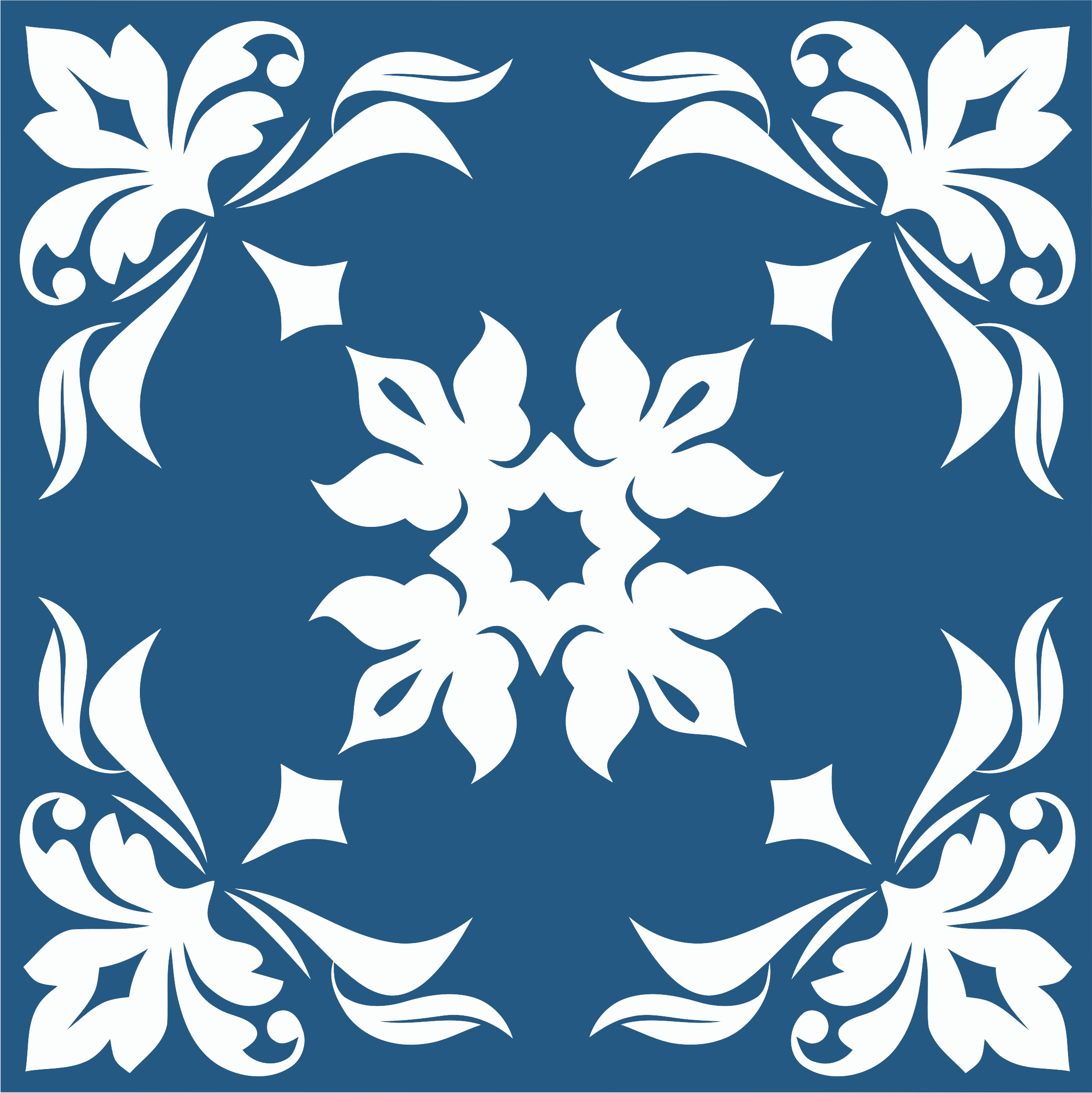 Floral Flourish Tile by GDJ