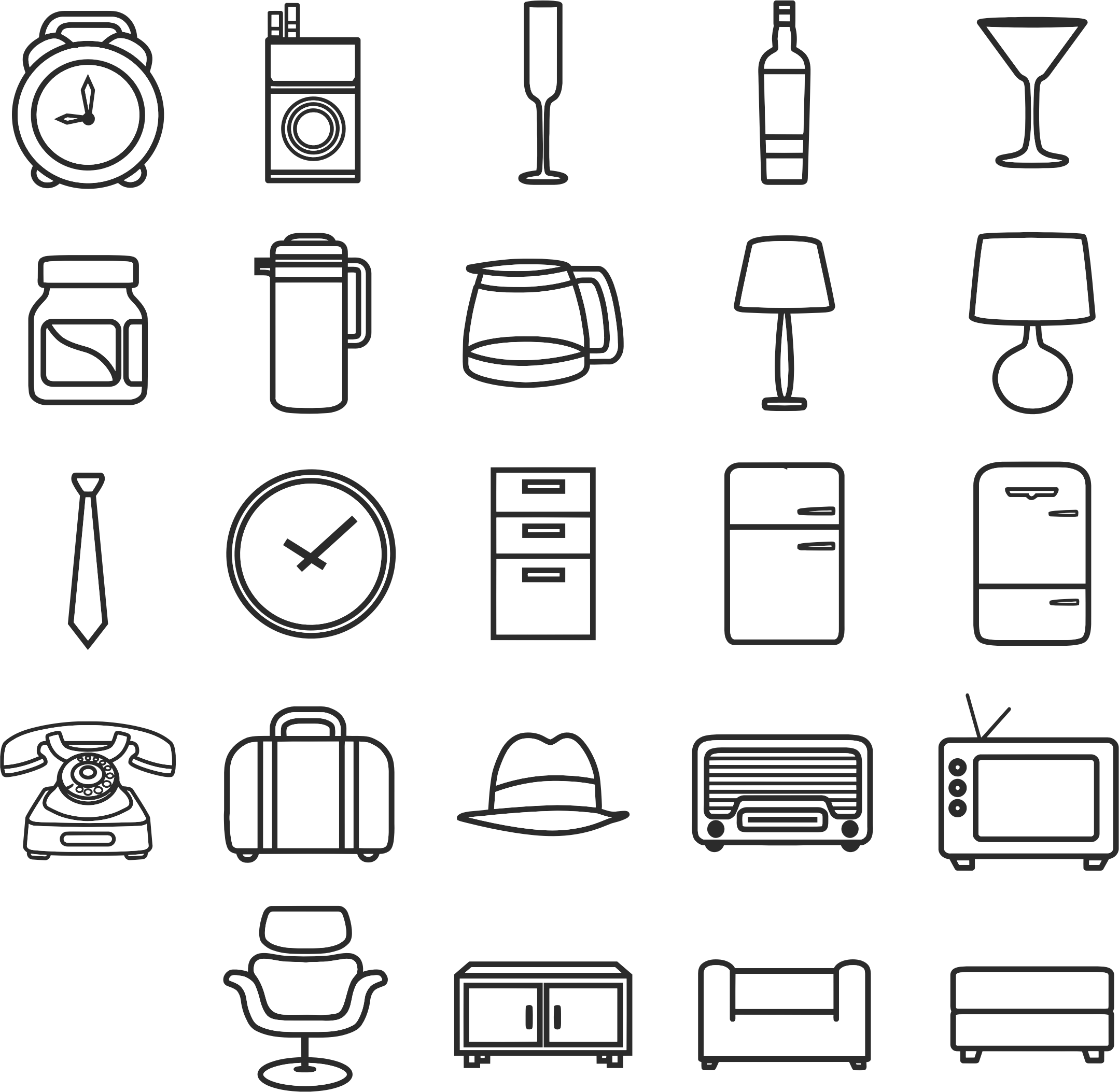 Retro Icon Set by GDJ