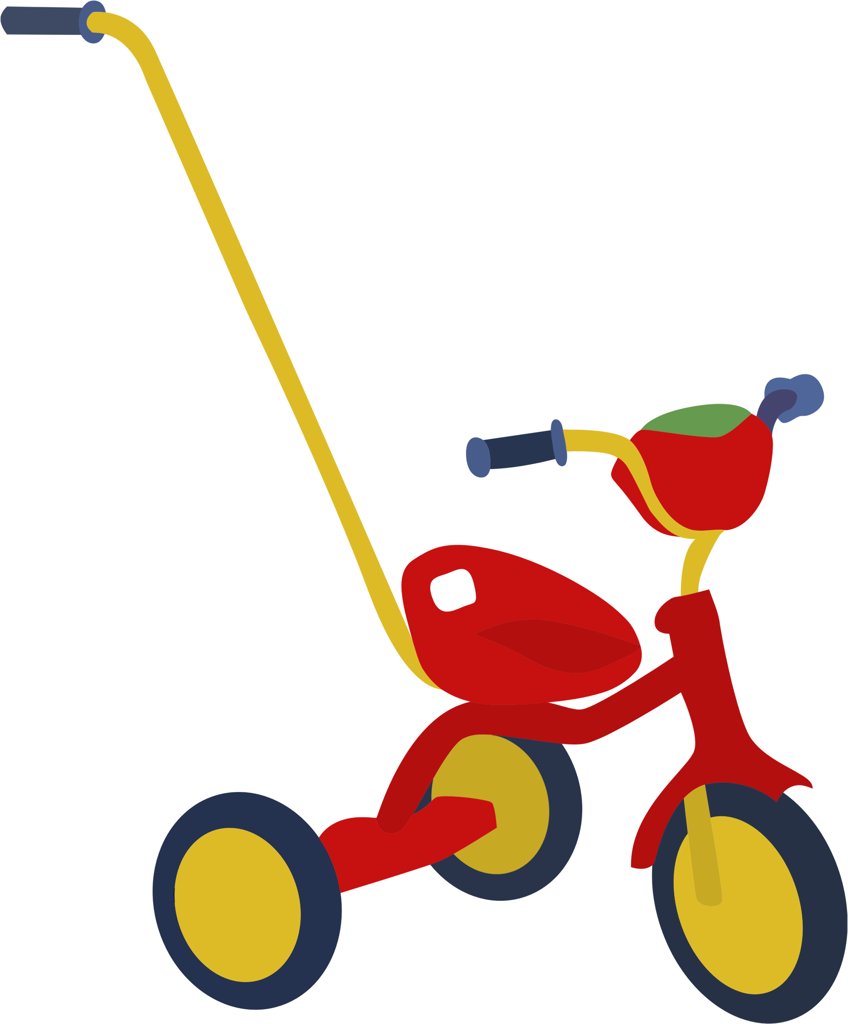Red Tricycle by GDJ