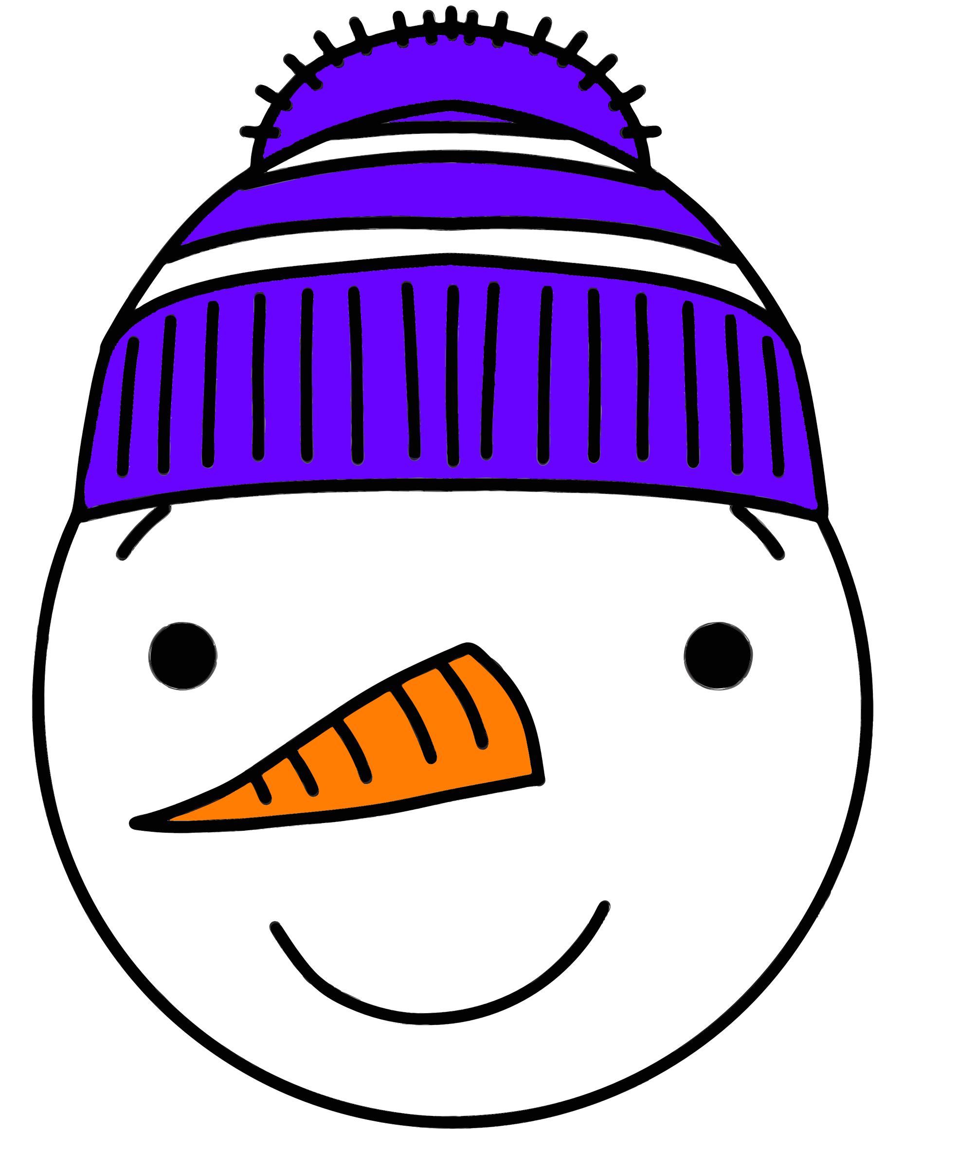 Clipart - snowman scene 10