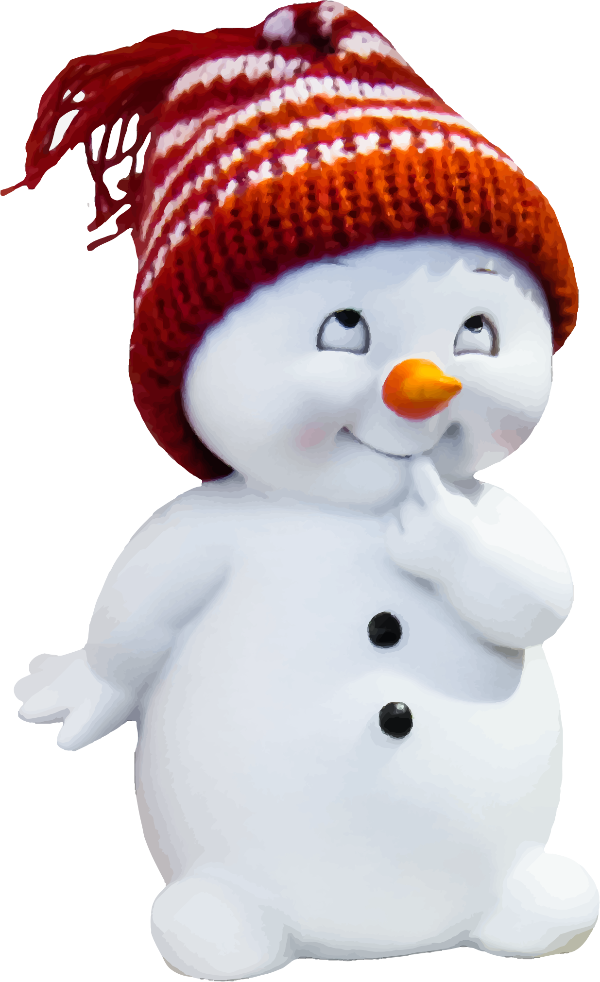 Playful Snow Man by GDJ