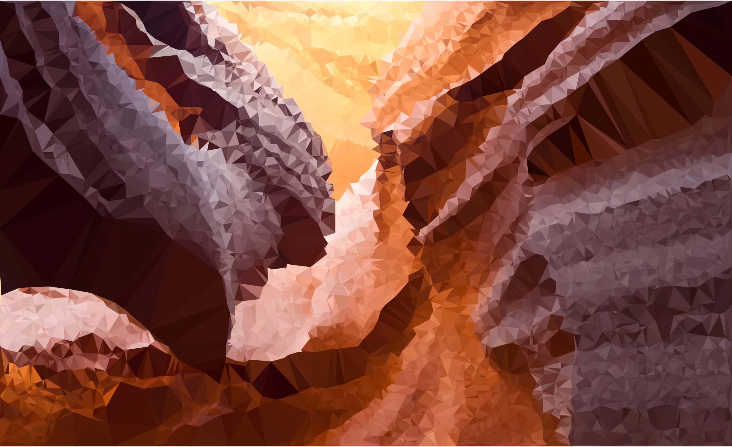 Low Poly Antelope Canyon by GDJ