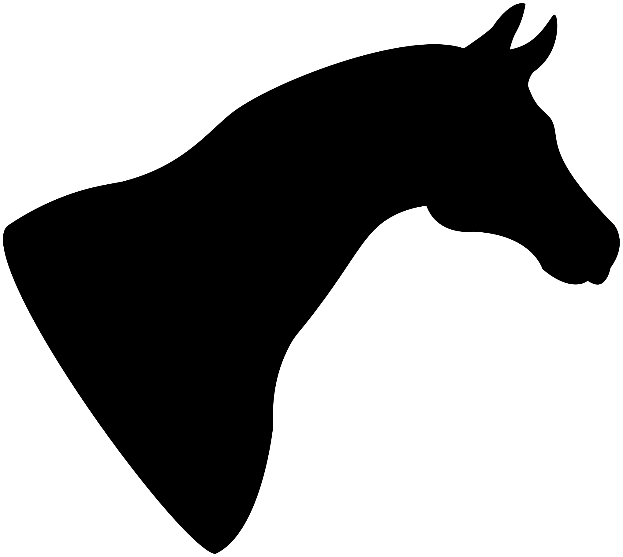 Horse Head Silhouette by GDJ