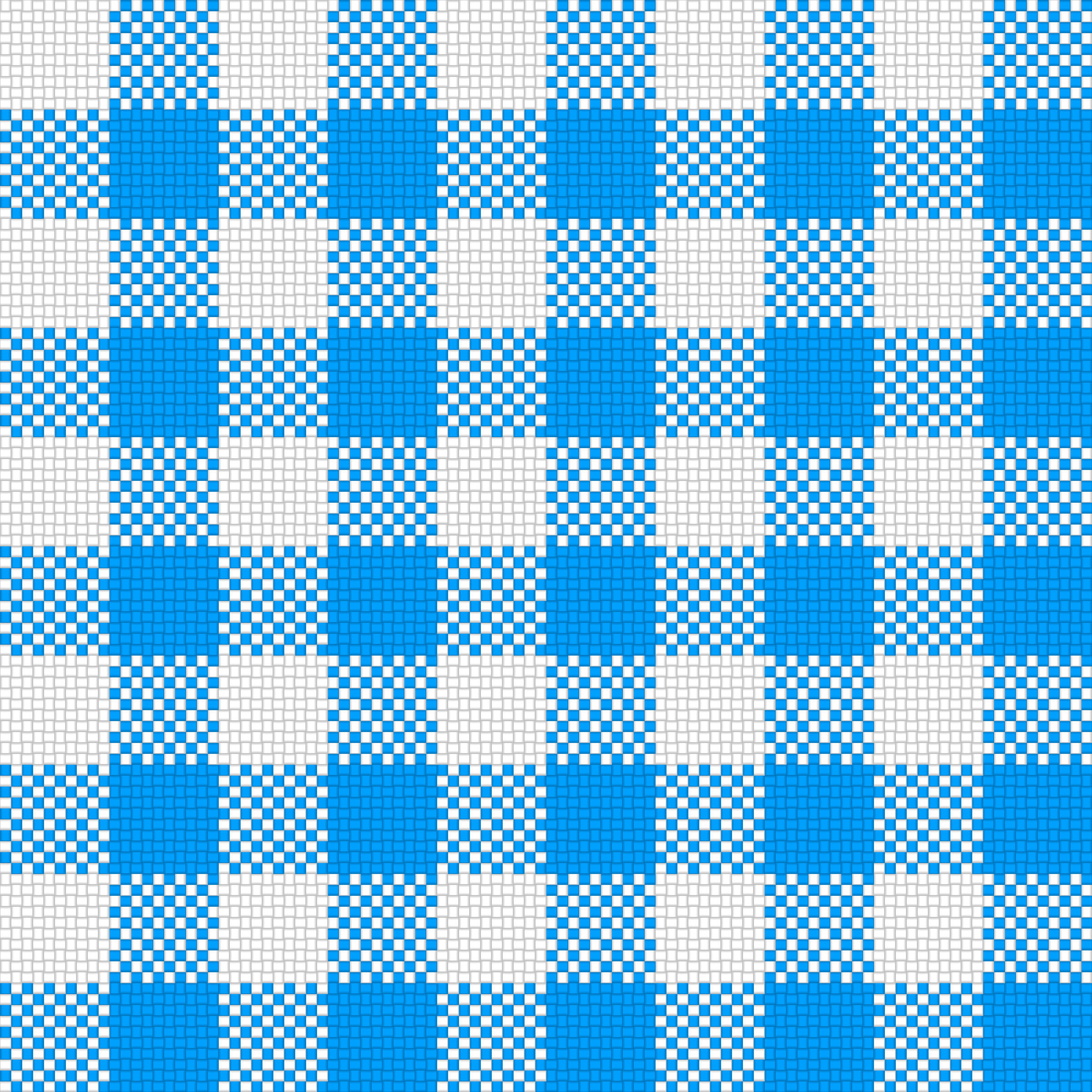 Checker Plaid Cloth Blue White by gubrww2